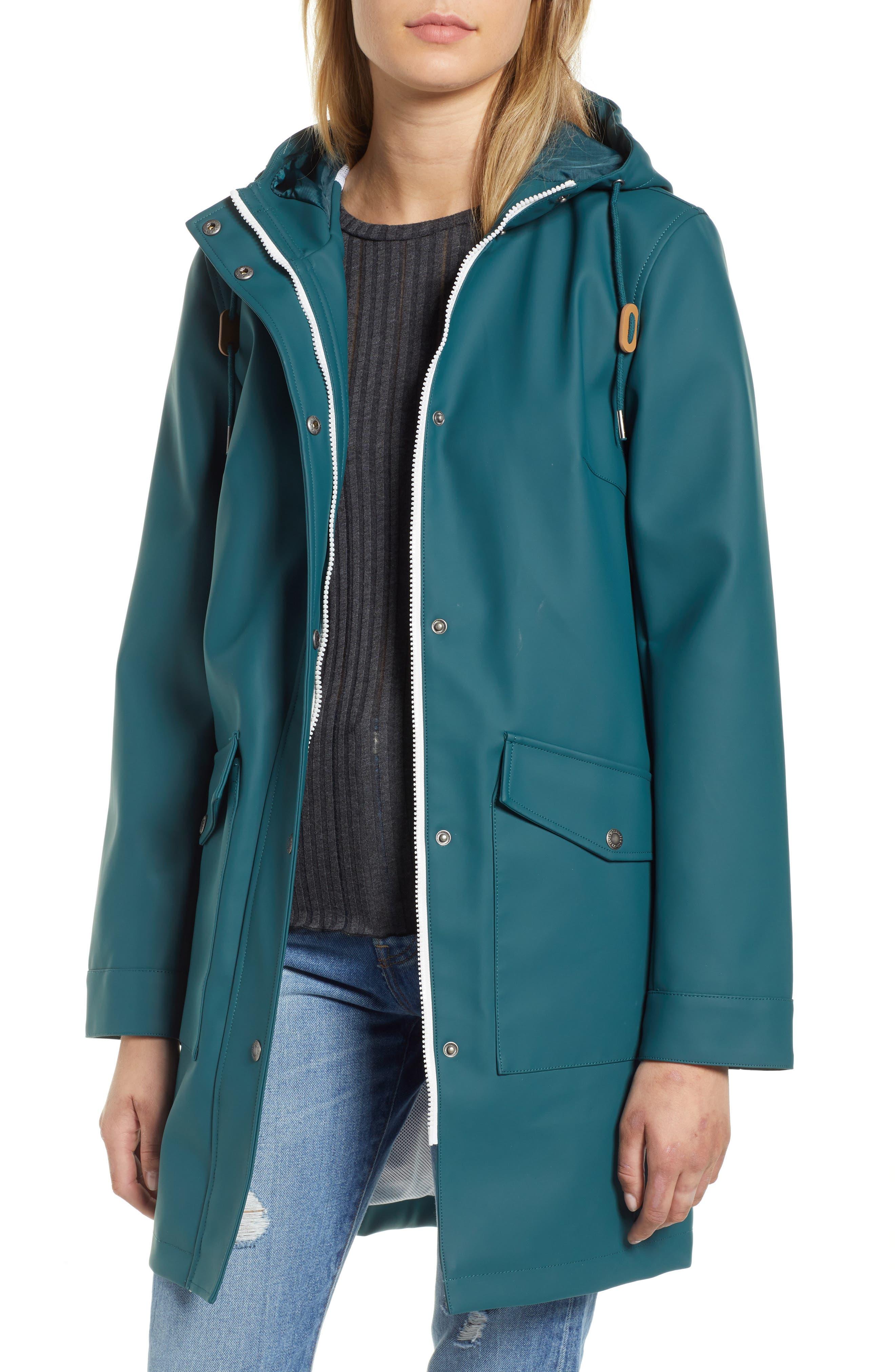 Rain Jacket,                         Main,                         color, TEAL