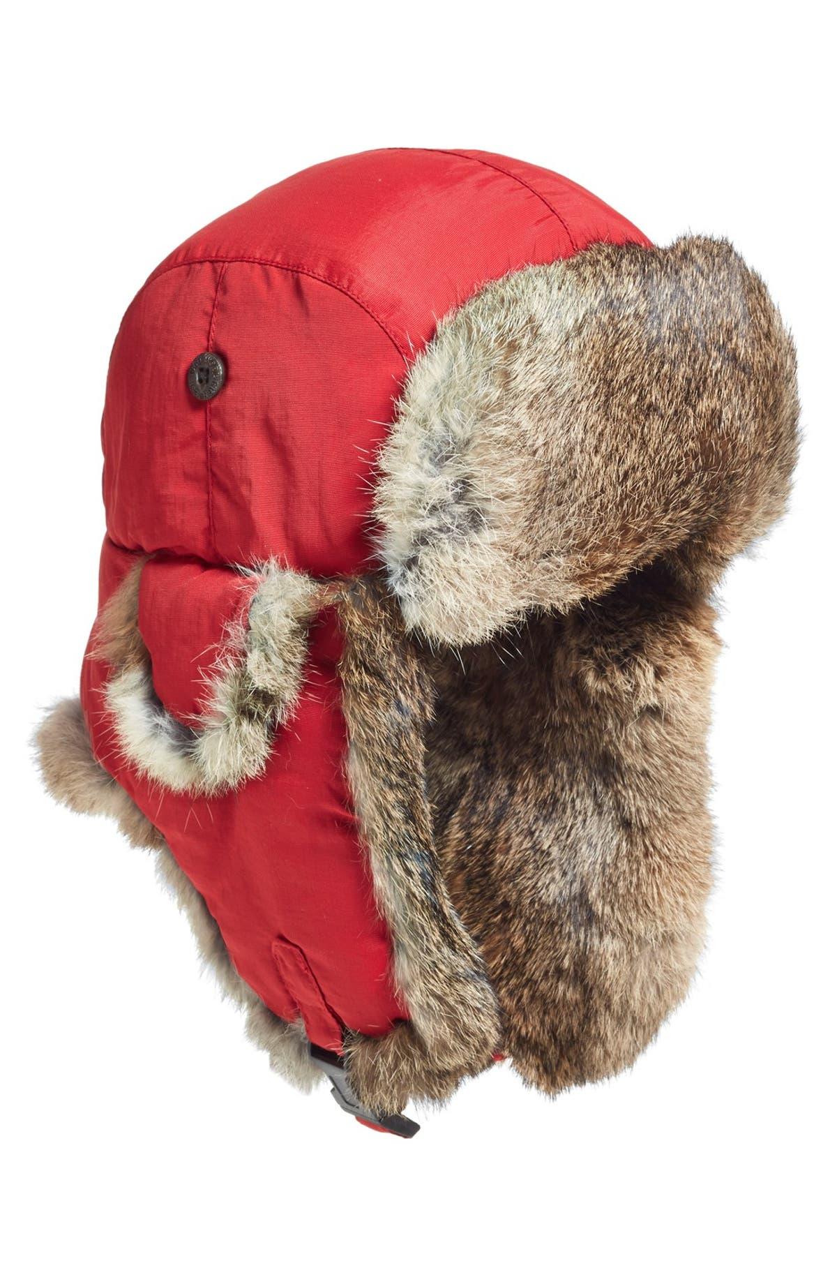 Woolrich  Supplex  Genuine Rabbit Fur Lined Aviator Cap  34f972714a1
