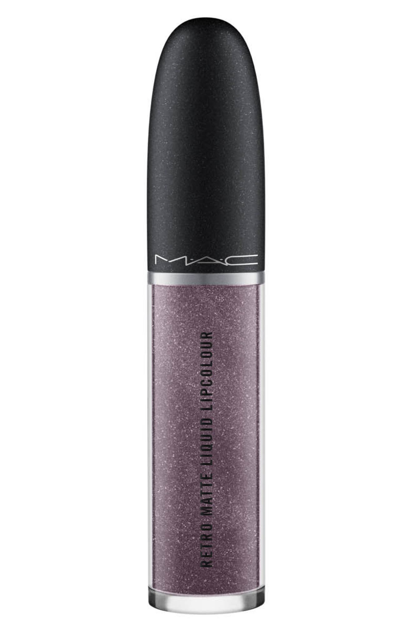 MAC Retro Matte Metallic Liquid Lipcolor,                         Main,                         color, SILVER SPOON