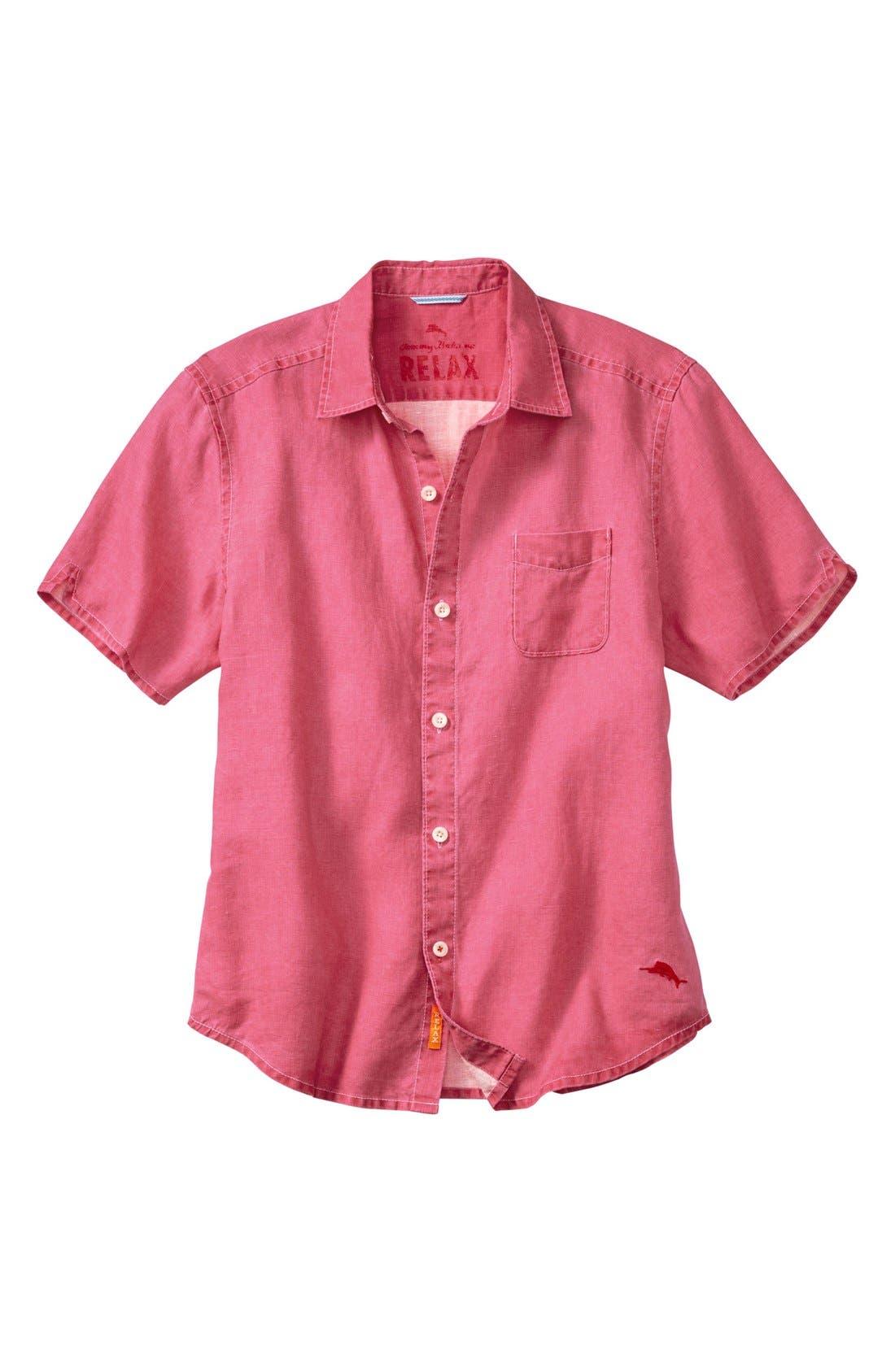 Seaglass Breezer Short Sleeve Linen Sport Shirt,                             Main thumbnail 19, color,