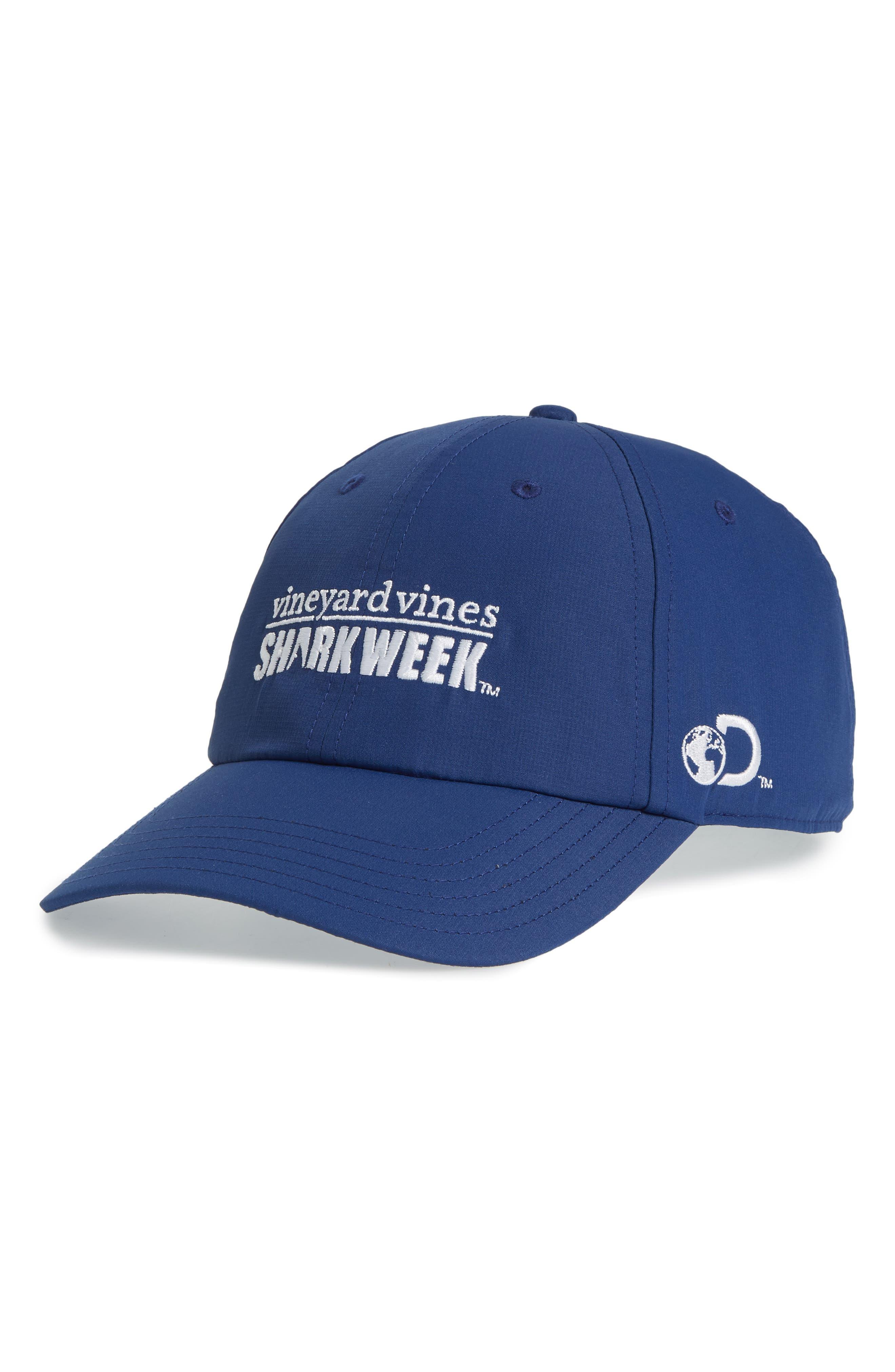 x Shark Week<sup>™</sup> Performance Baseball Cap,                         Main,                         color, MOONSHINE