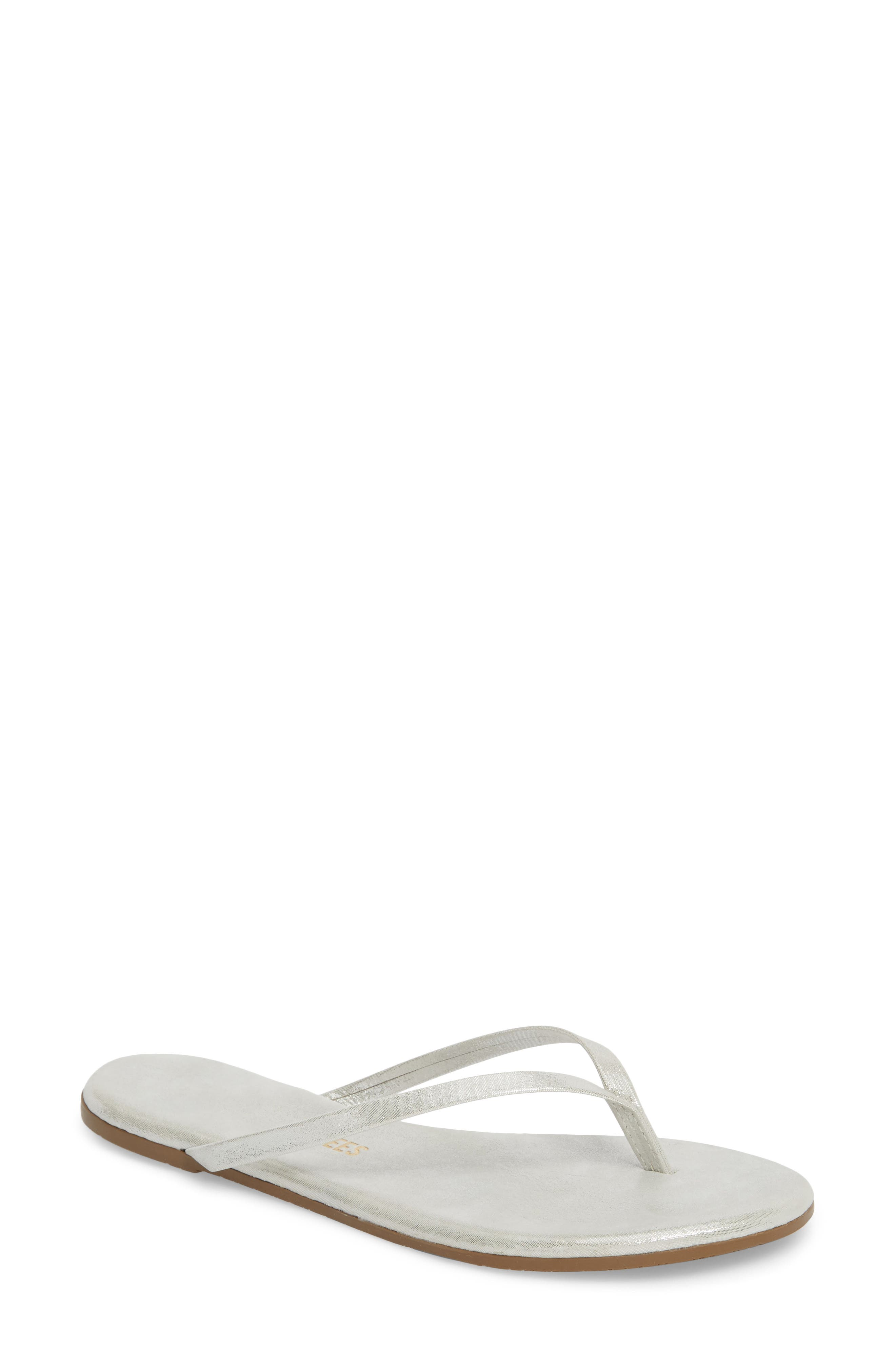 'Glitters' Flip Flop,                         Main,                         color, GLEAM LEATHER