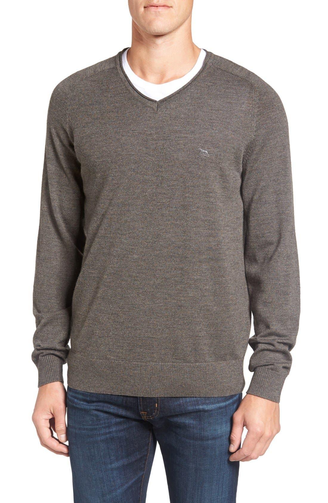 'Burwood Bay' Wool V-Neck Sweater,                             Main thumbnail 1, color,                             259