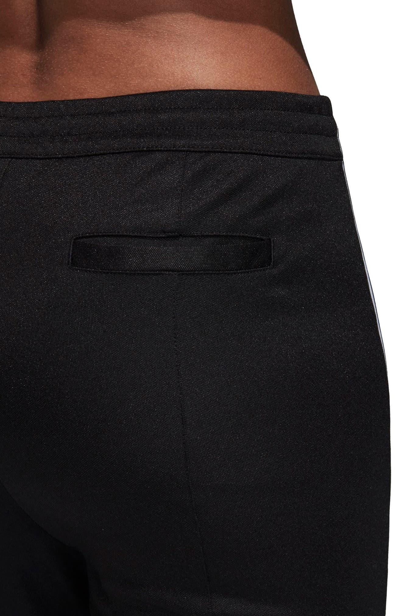 adidas 3 Stripe Track Pants,                             Alternate thumbnail 6, color,                             BLACK