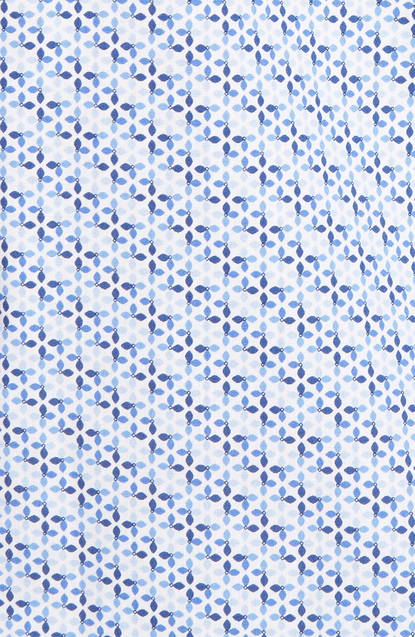 Simon Regular Fit Geo Print Sport Shirt,                             Alternate thumbnail 5, color,