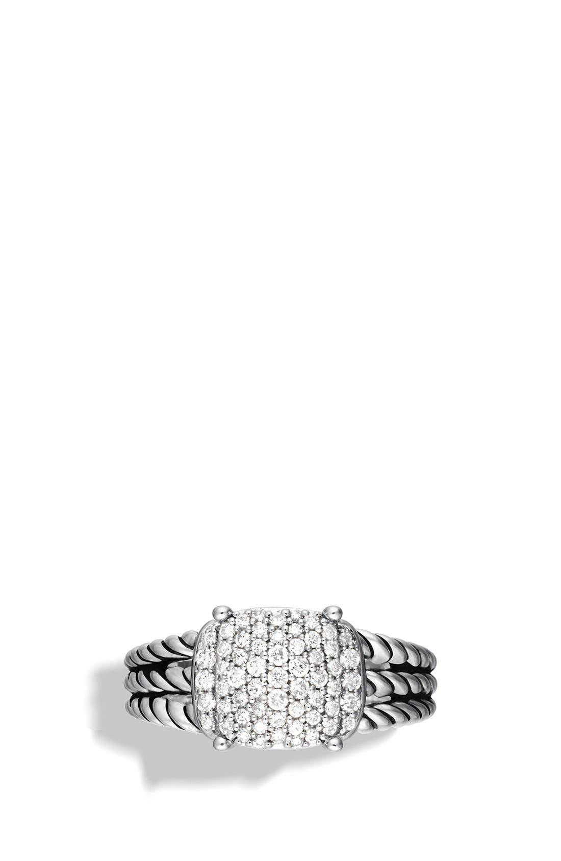 'Wheaton' Petite Ring with Diamonds,                             Alternate thumbnail 4, color,                             DIAMOND