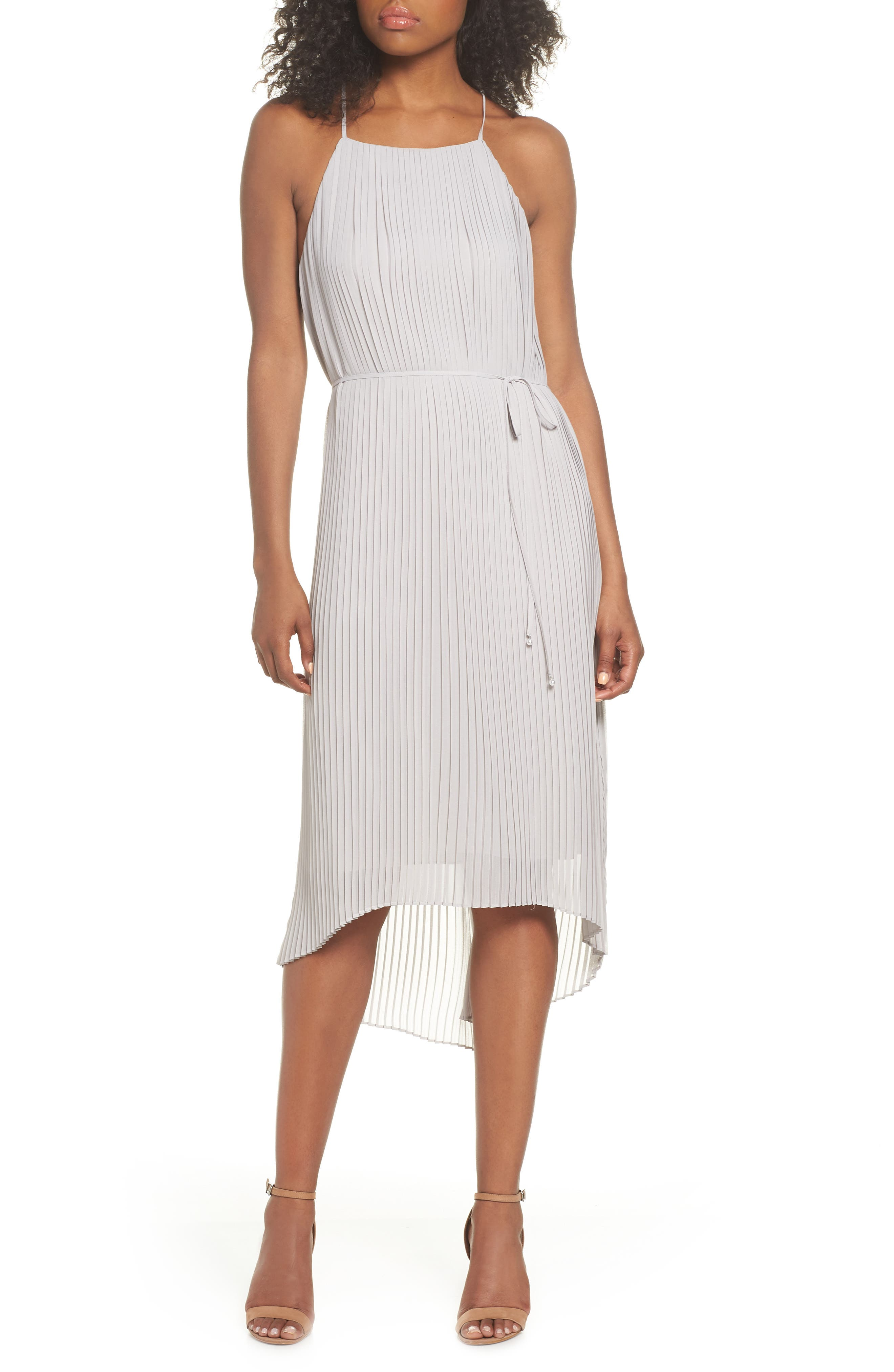SAM EDELMAN Pleated Midi Dress, Main, color, 077