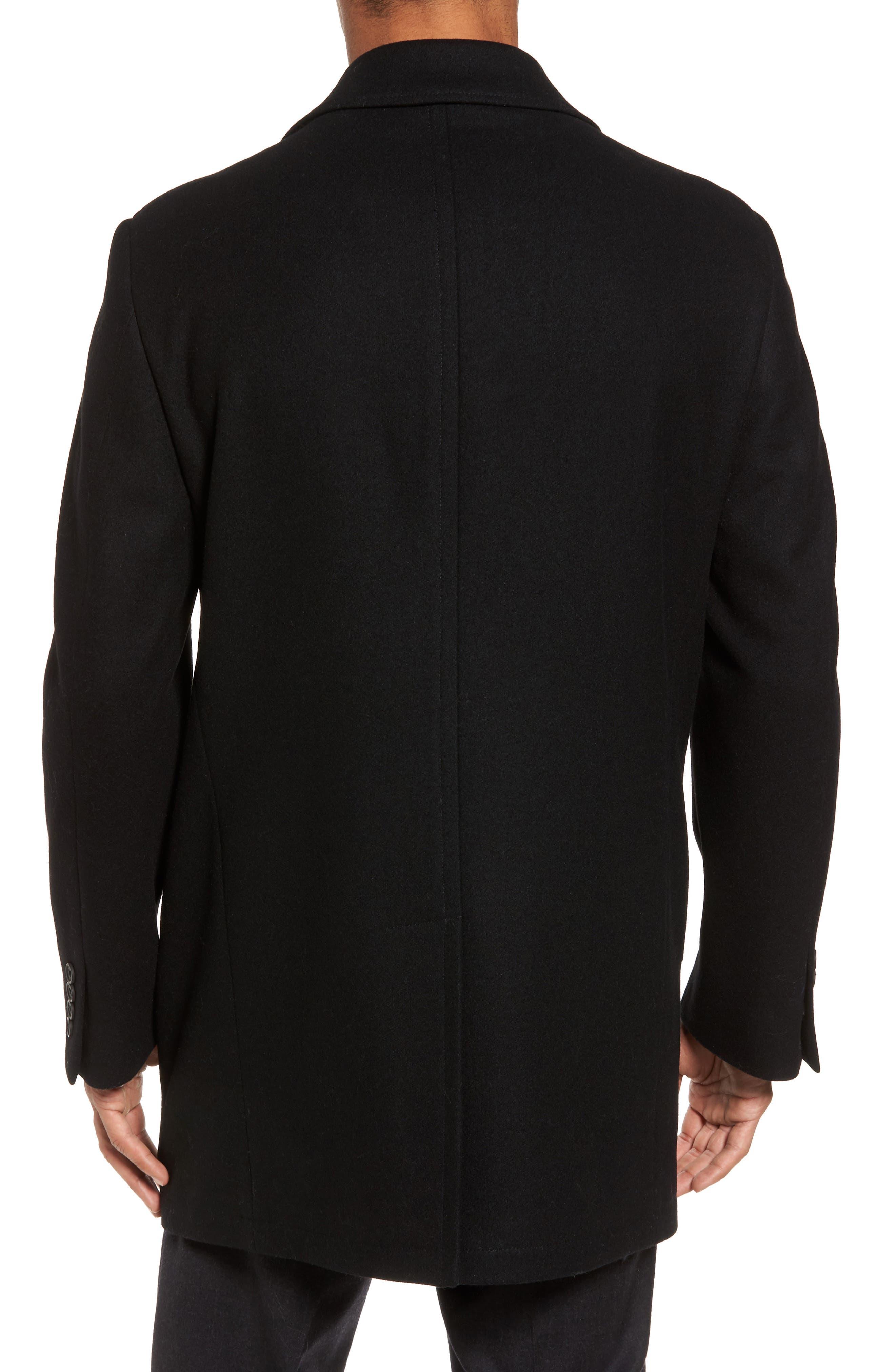 Wool Blend Car Coat,                             Alternate thumbnail 2, color,                             001