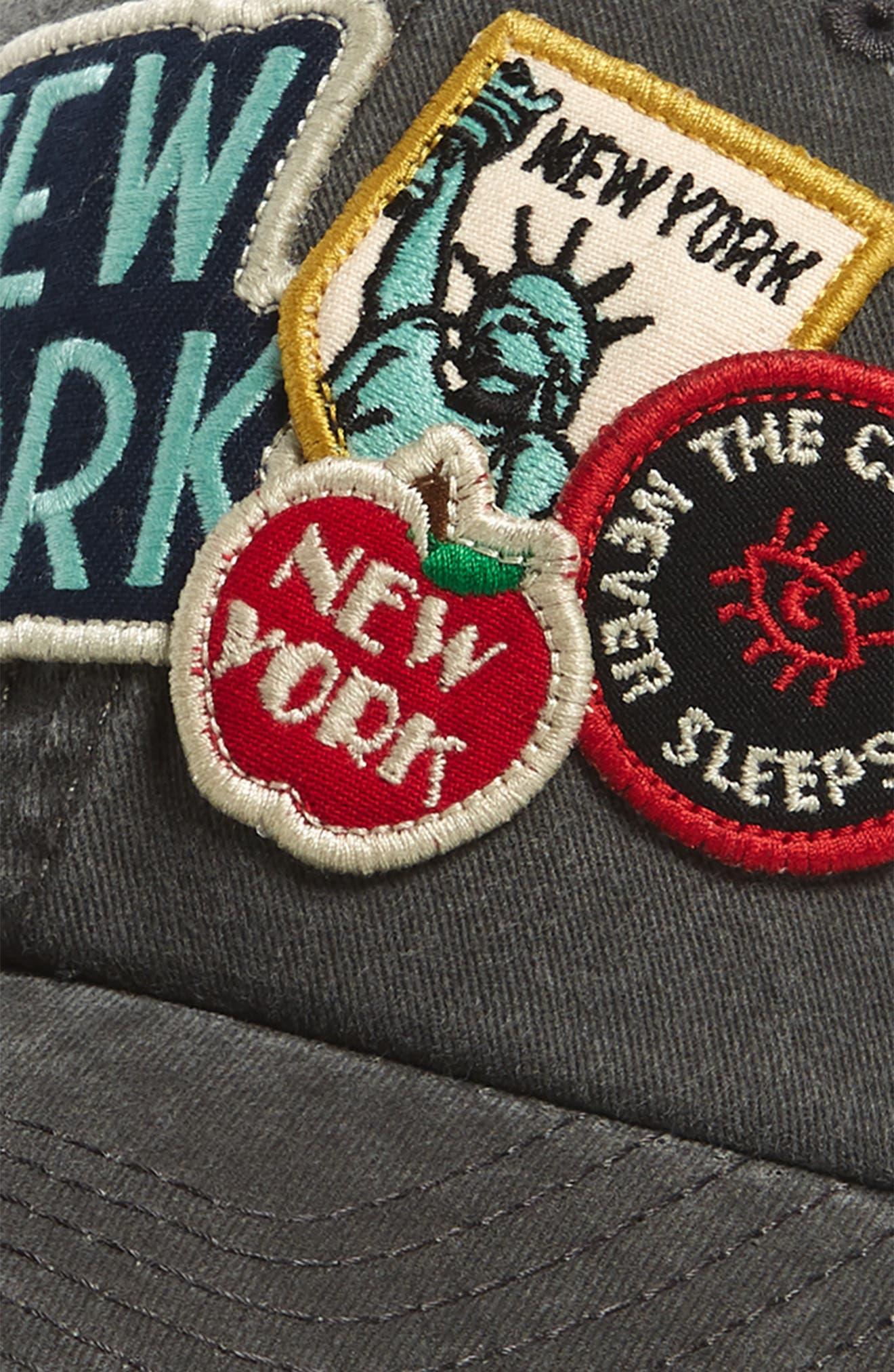 Iconic - New York Ball Cap,                             Alternate thumbnail 3, color,                             020