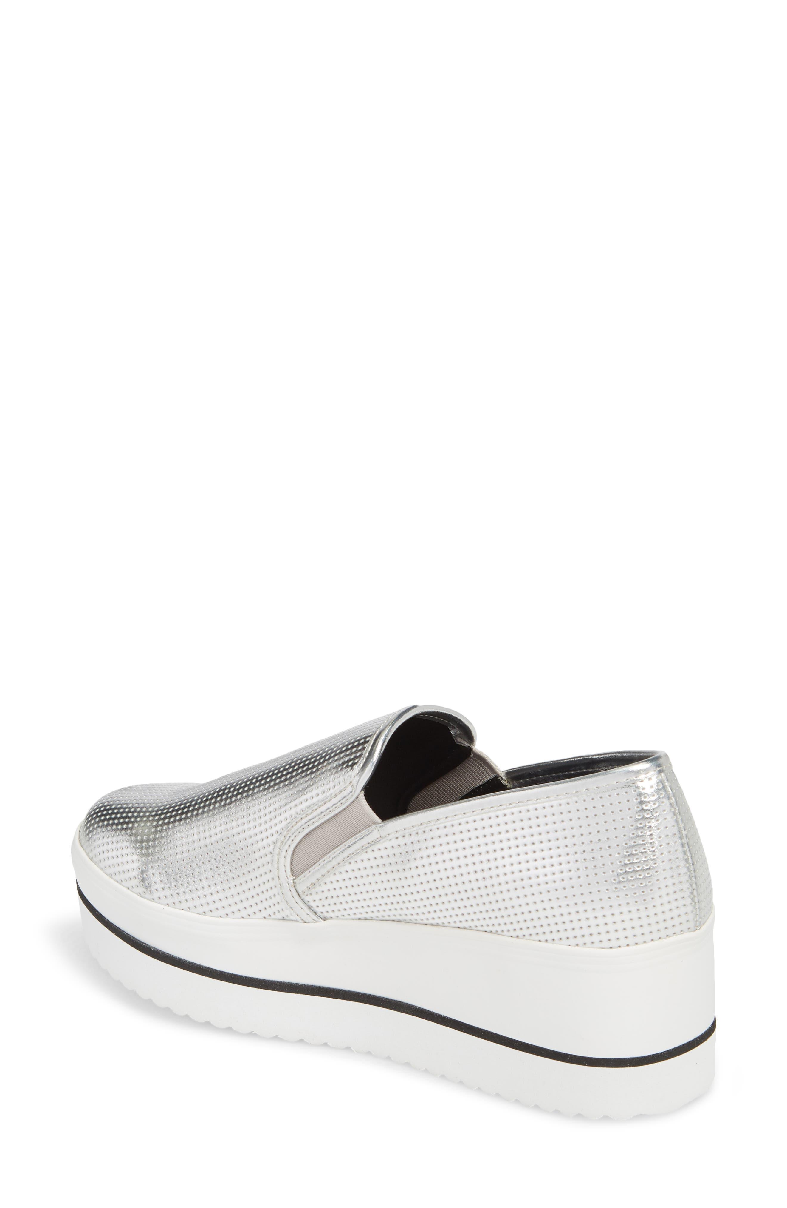 Becca Slip-On Sneaker,                             Alternate thumbnail 2, color,                             SILVER