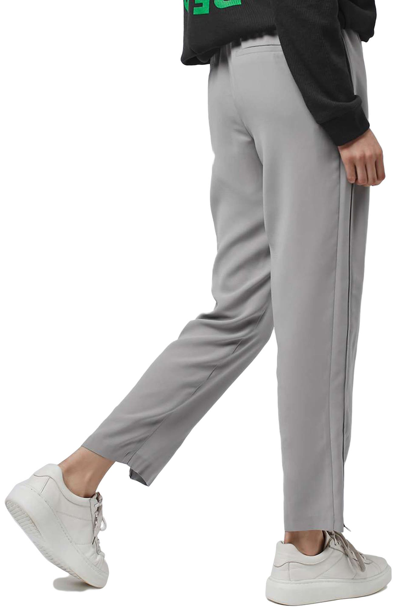 Contrast Piped Ankle Zip Jogger Pants,                             Alternate thumbnail 2, color,                             020