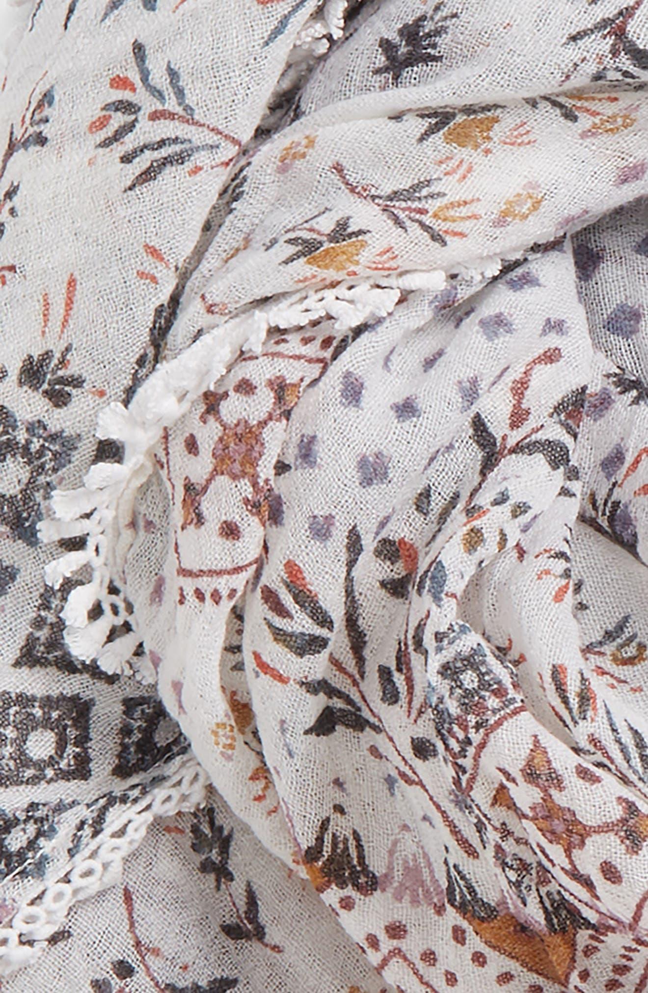 Floral Fringe Scarf,                             Alternate thumbnail 30, color,