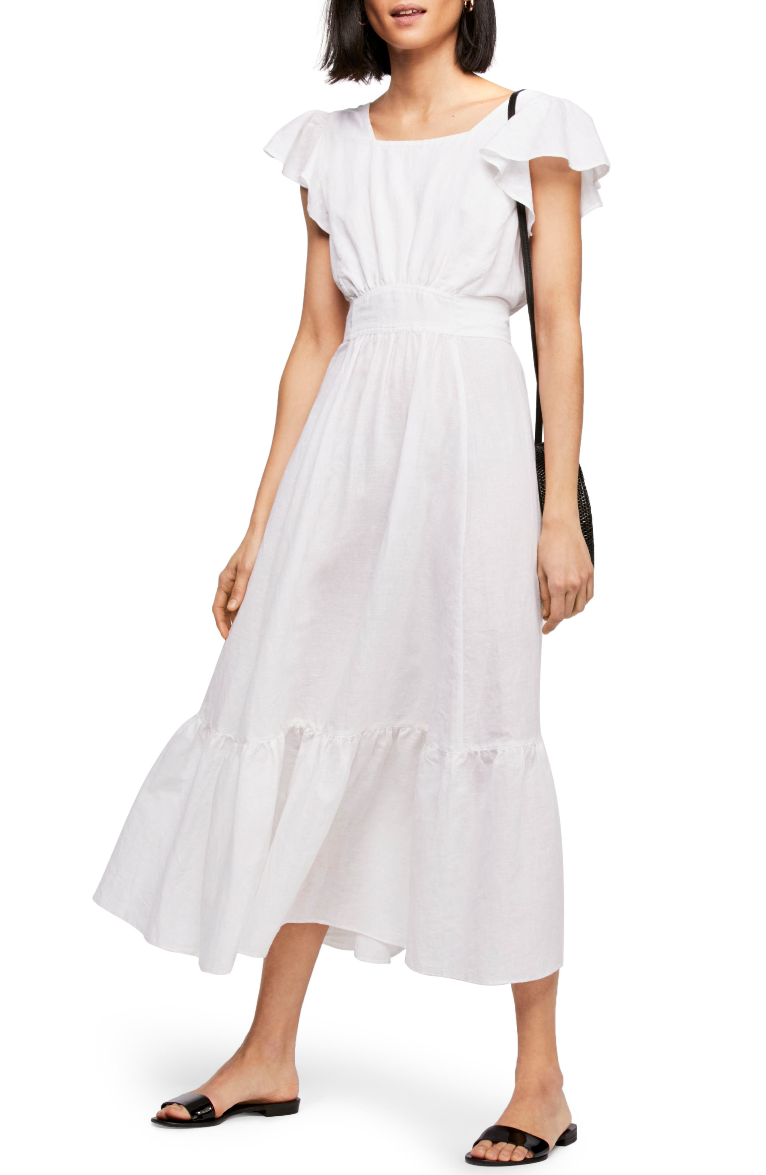 FREE PEOPLE Endless Summer by Free People Takin' a Chance Midi Dress, Main, color, 100