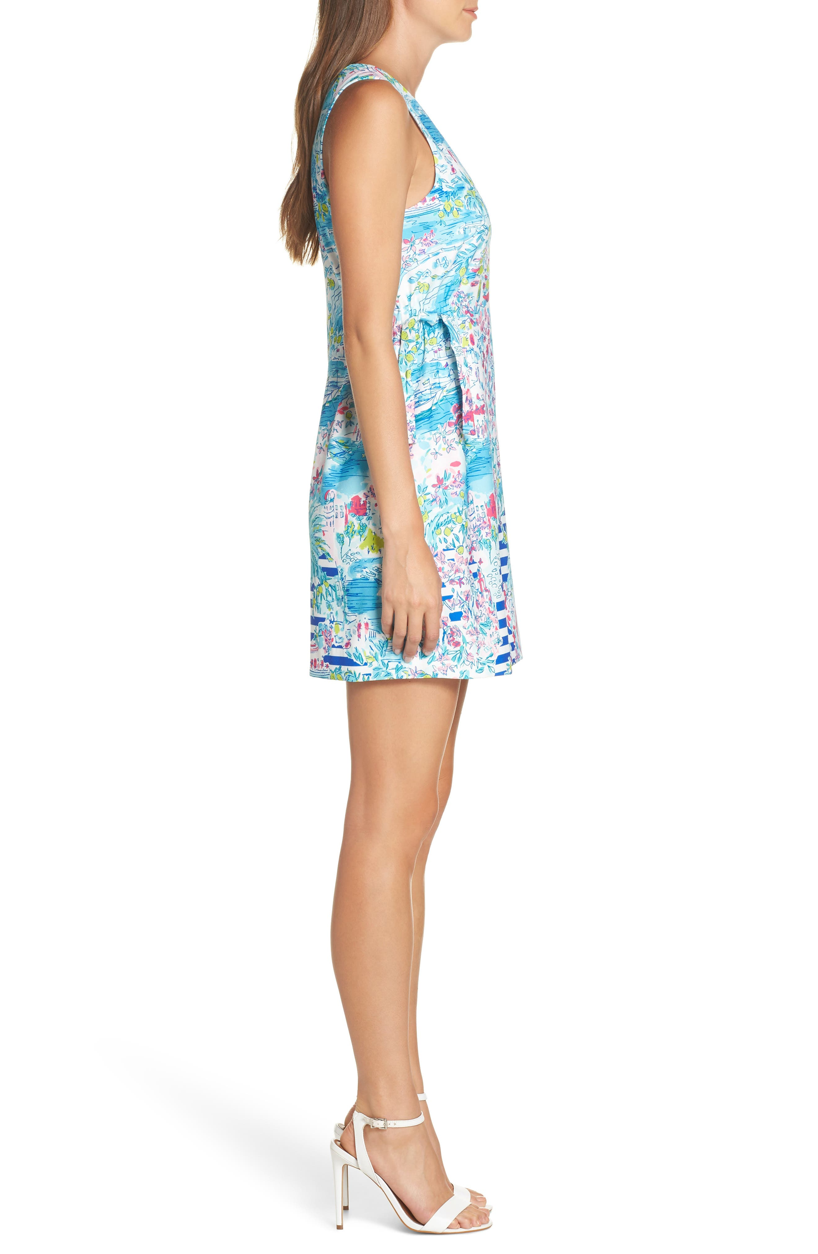 LILLY PULITZER<SUP>®</SUP>,                             Marli Stretch Shift Dress,                             Alternate thumbnail 3, color,                             MULTI POSTCARDS FROM POSITANO