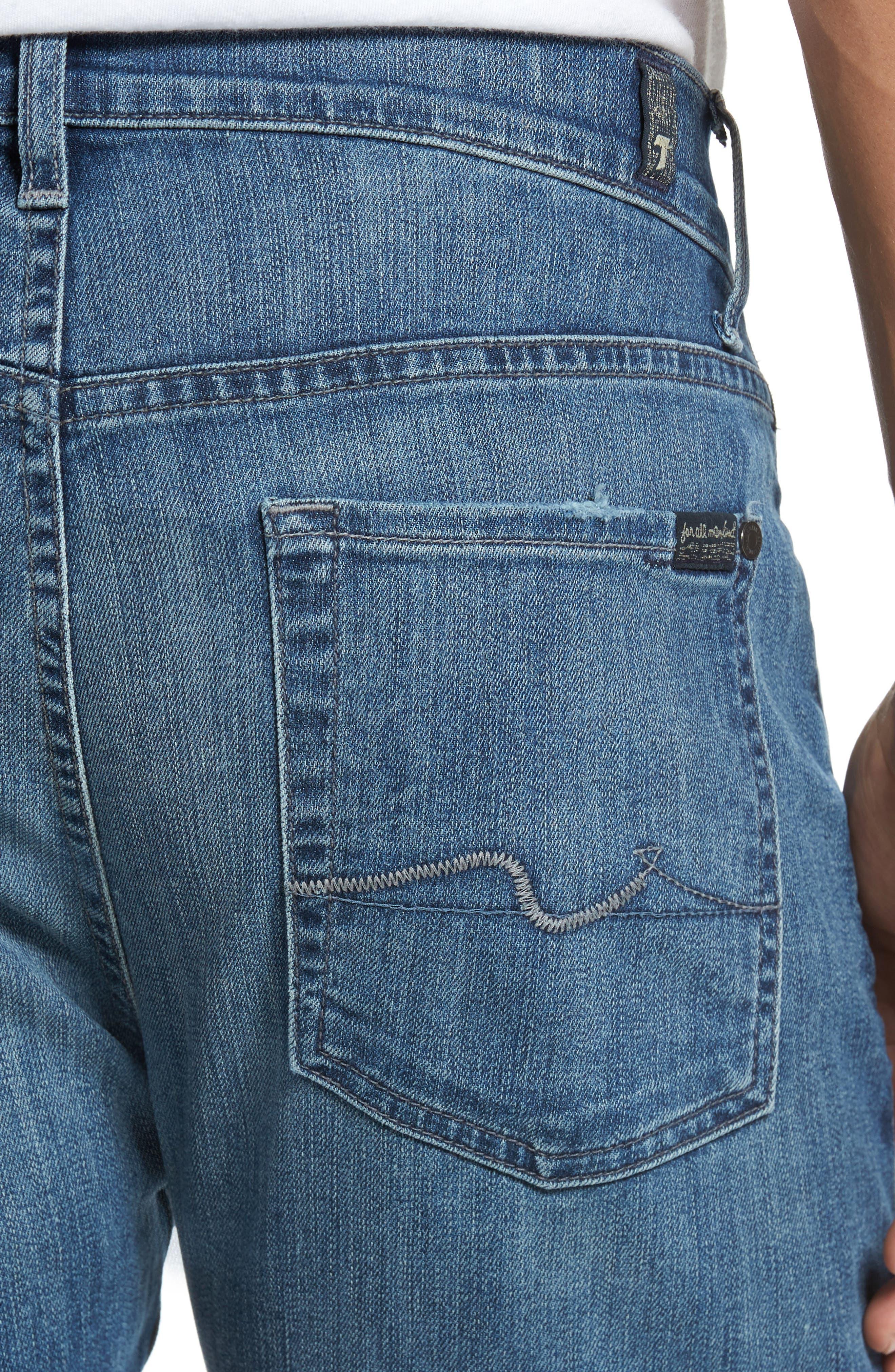 The Straight Slim Straight Leg Jeans,                             Alternate thumbnail 4, color,                             408