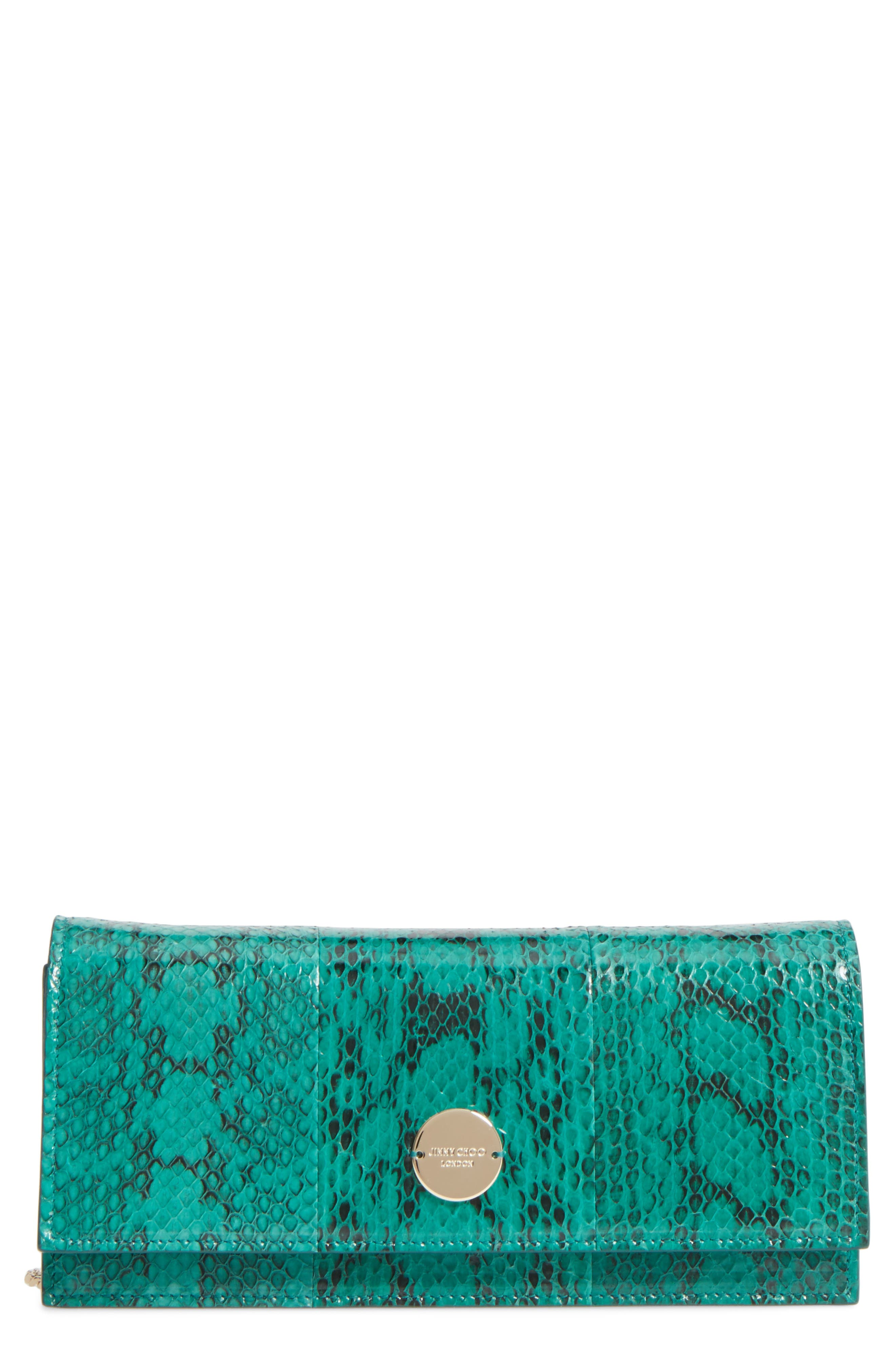 Fie Genuine Snakeskin Clutch,                             Main thumbnail 1, color,                             300