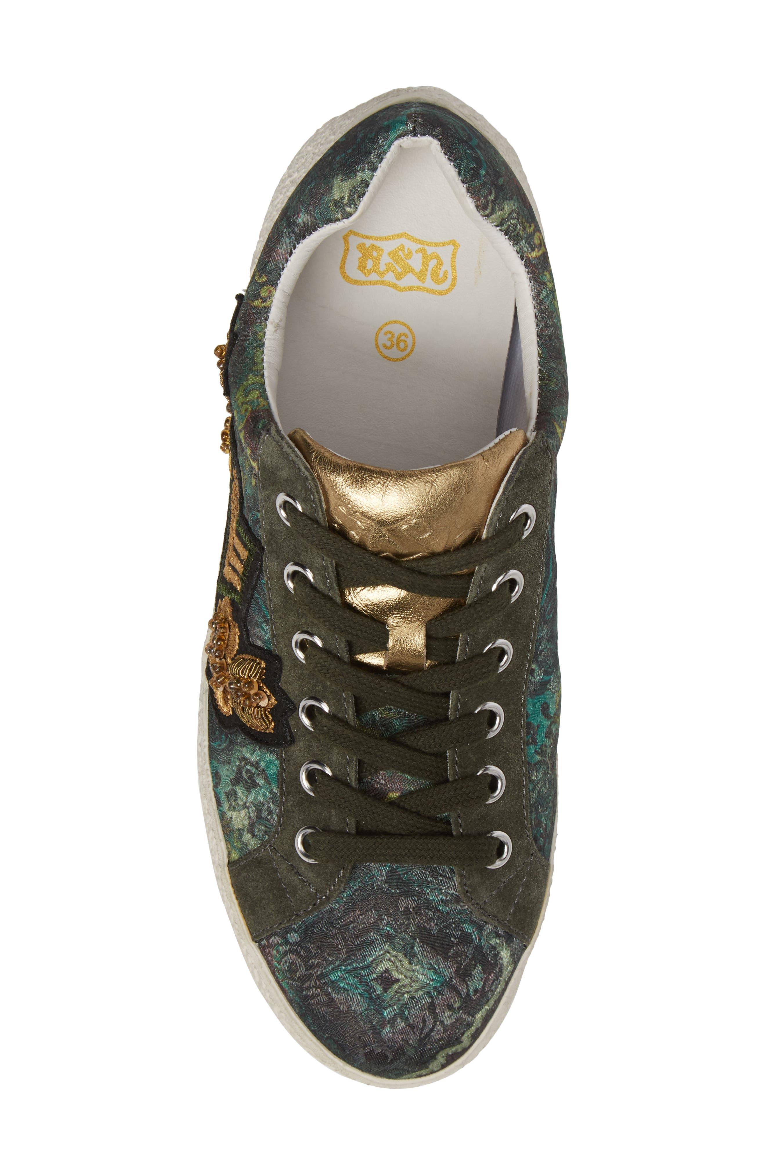 Embellished Low-Top Sneaker,                             Alternate thumbnail 5, color,                             312