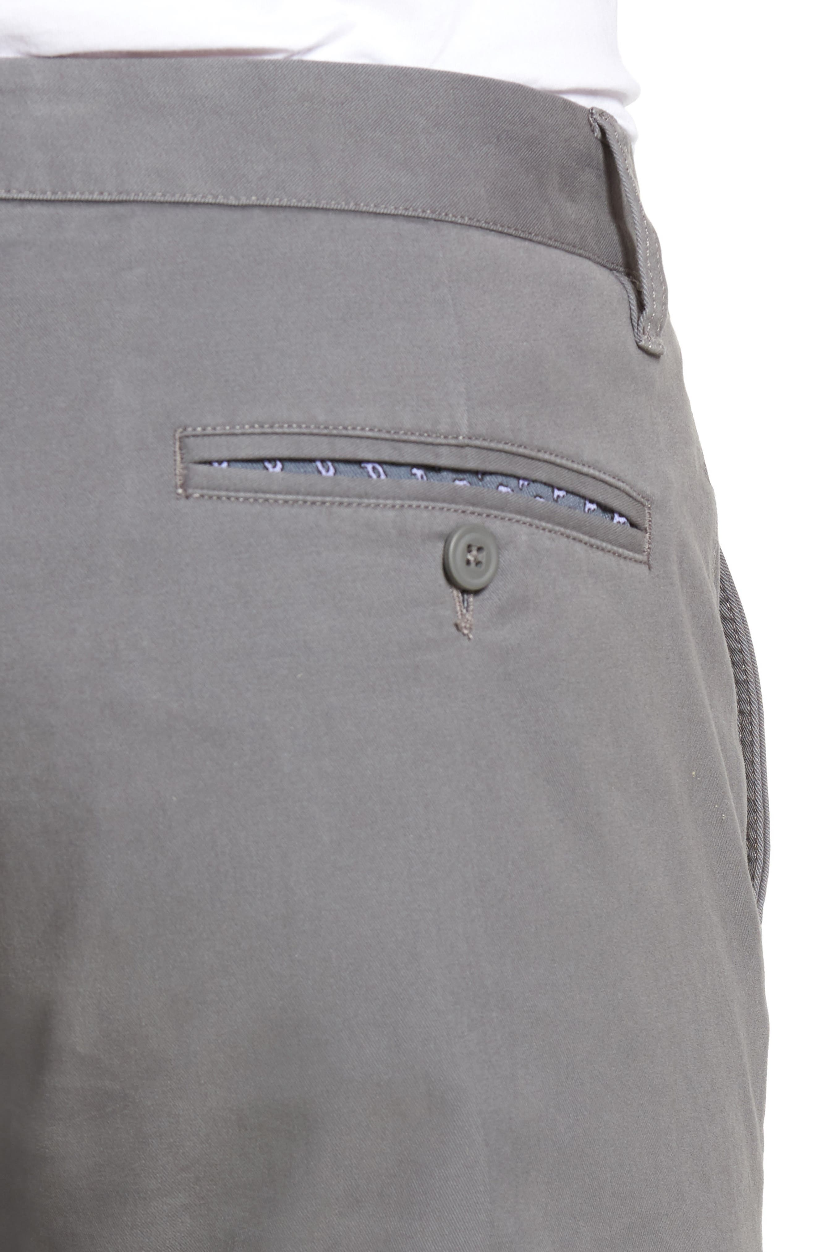 Tailored Fit Washed Stretch Cotton Chinos,                             Alternate thumbnail 130, color,