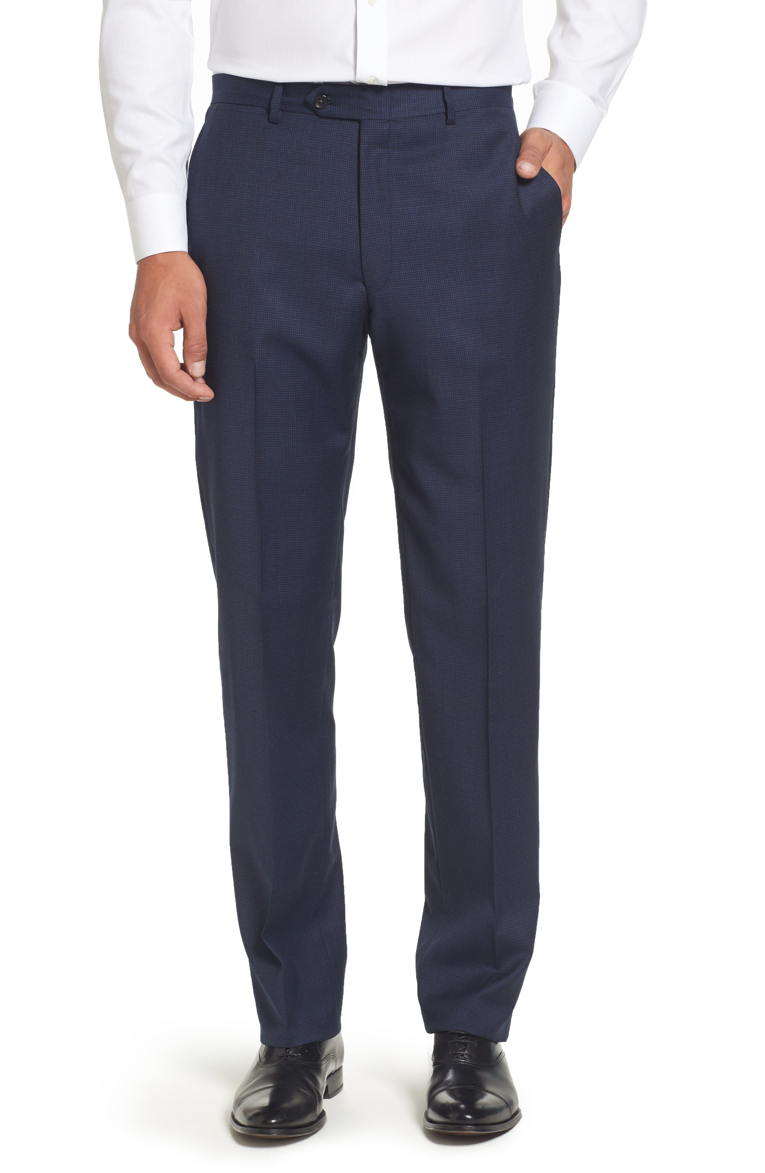 Classic Fit Check Stretch Wool Suit,                             Alternate thumbnail 6, color,                             401