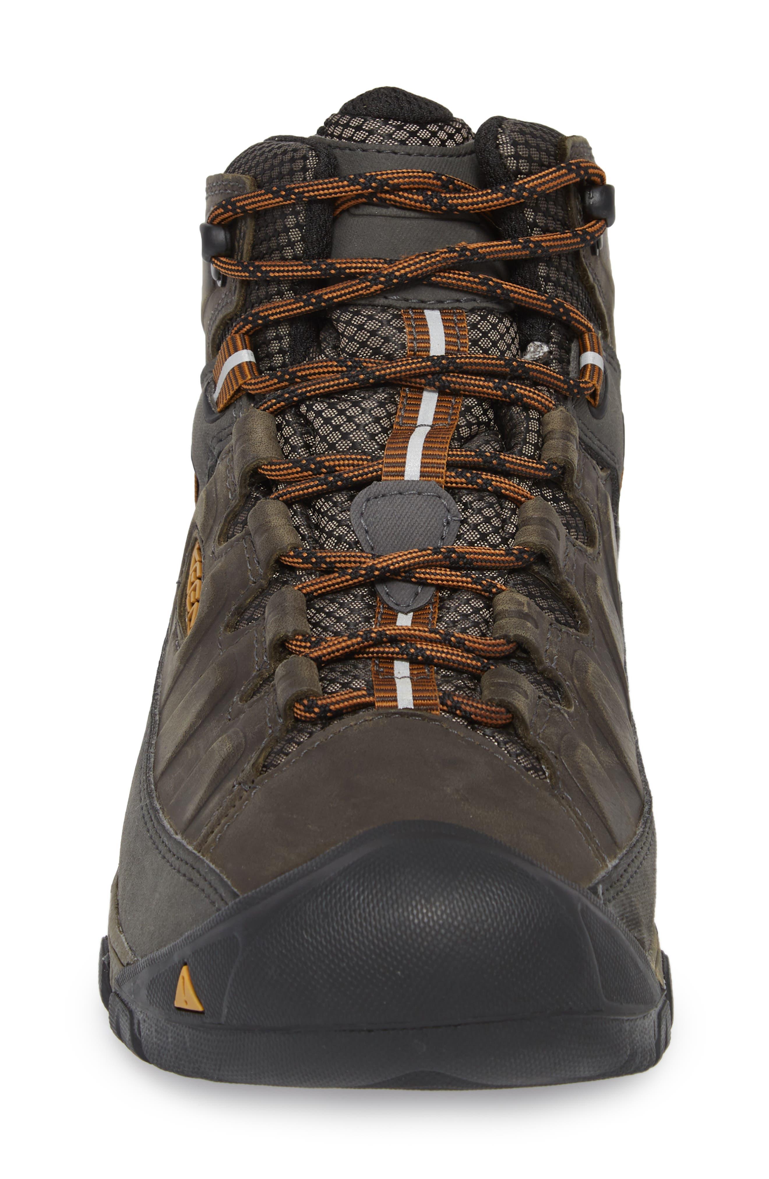 Targhee III Mid Waterproof Hiking Boot,                             Alternate thumbnail 4, color,                             BLACK OLIVE/GOLDEN BROWN