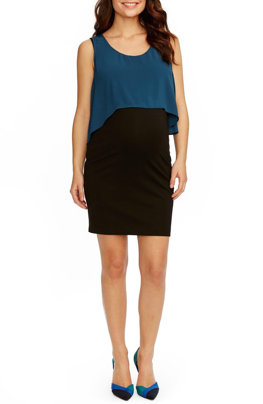 'Gladis' Sleeveless Popover Maternity Dress,                         Main,                         color, 404