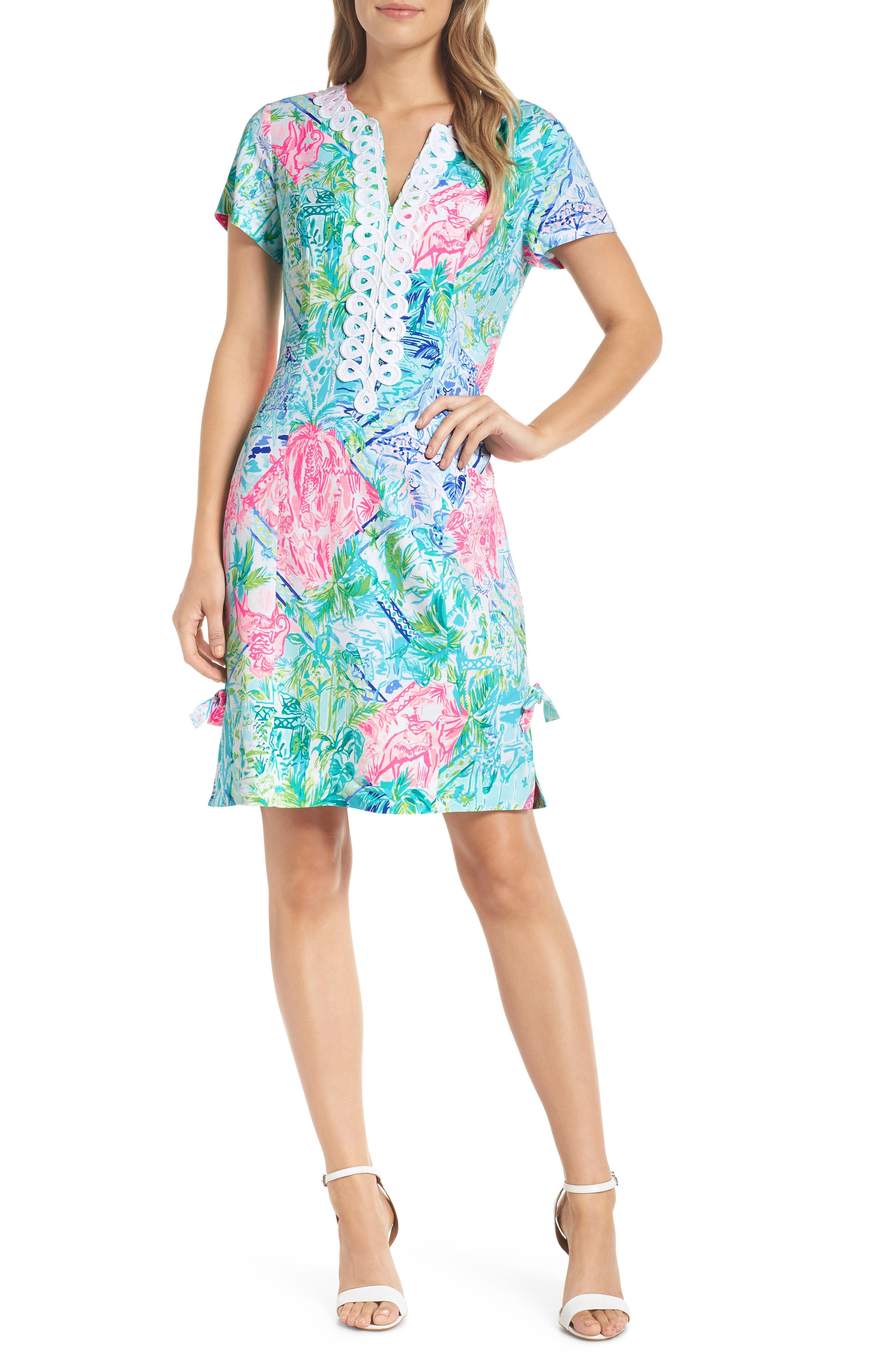 Lilly Pulitzer Casidy Floral Print Dress, Blue