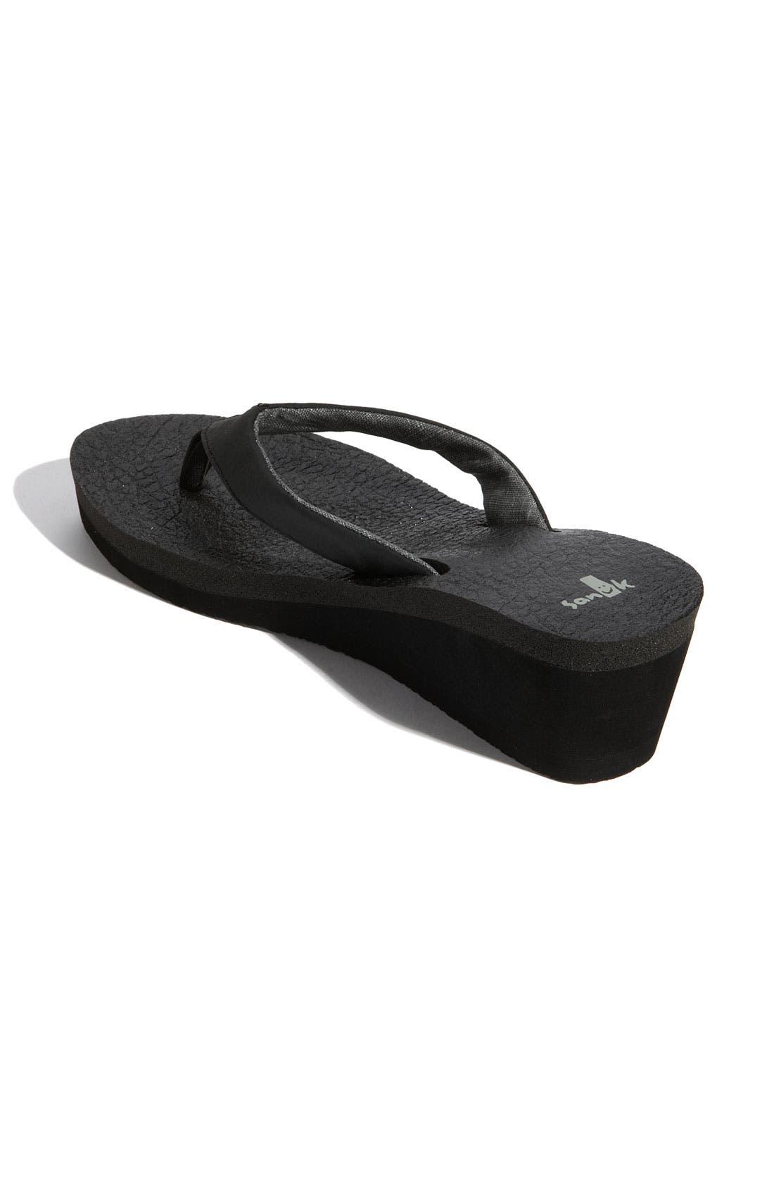 'Yoga Mat' Wedge Flip Flop,                             Alternate thumbnail 2, color,                             001