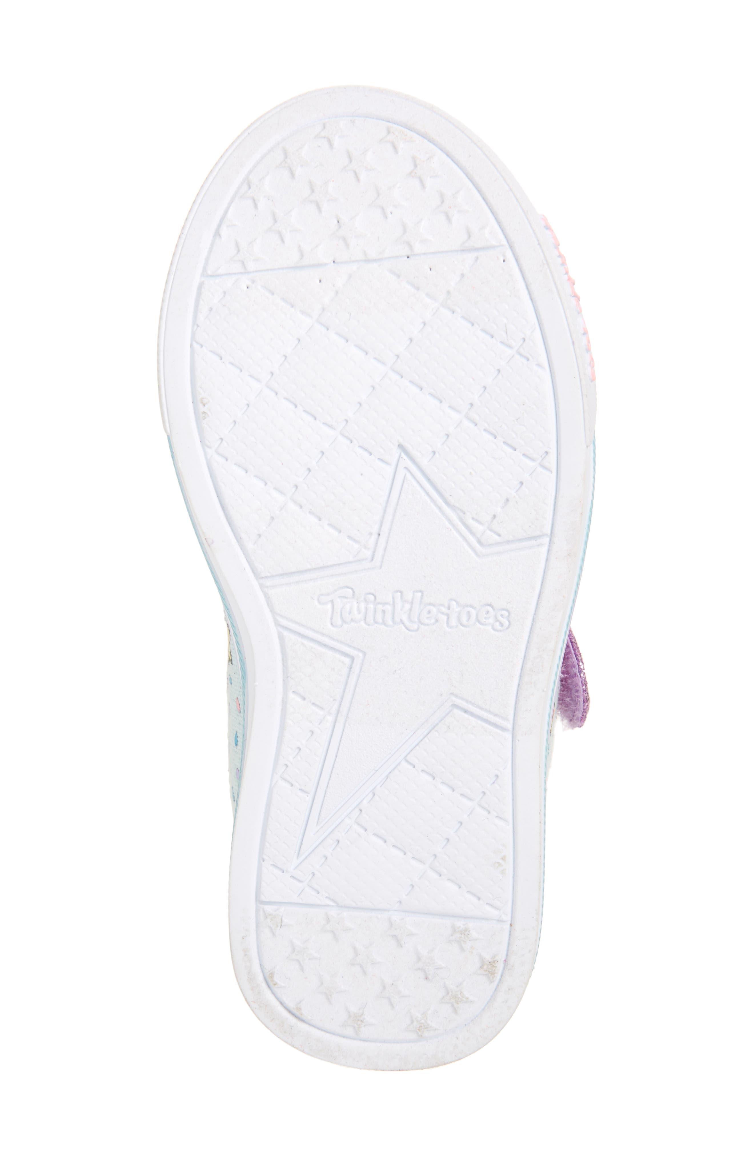 Twinkle Toes Unicorn Light-Up Sneaker,                             Alternate thumbnail 6, color,                             LIGHT BLUE/ MULTI