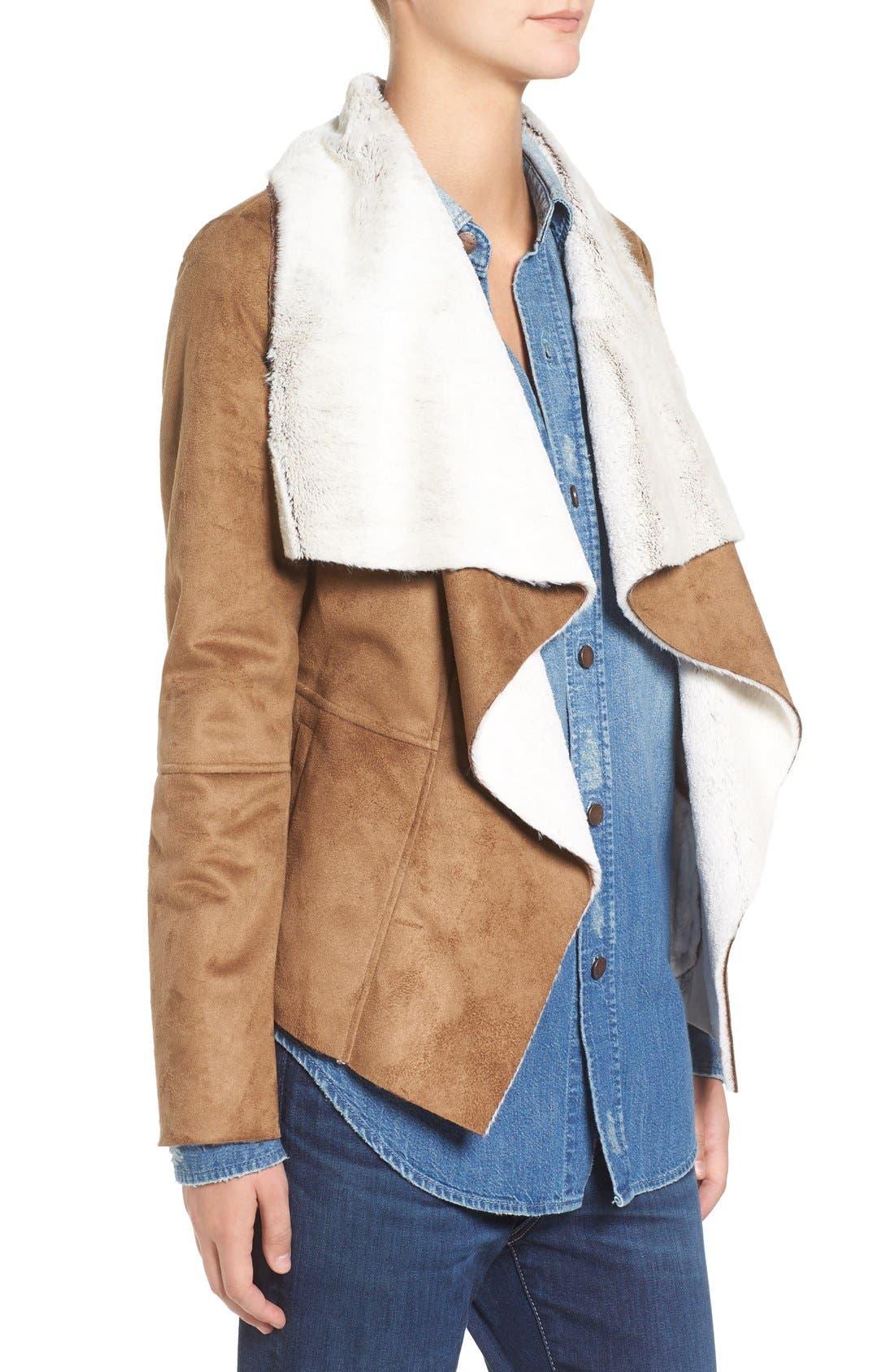 Bourne Faux Shearling Jacket,                             Alternate thumbnail 3, color,                             257