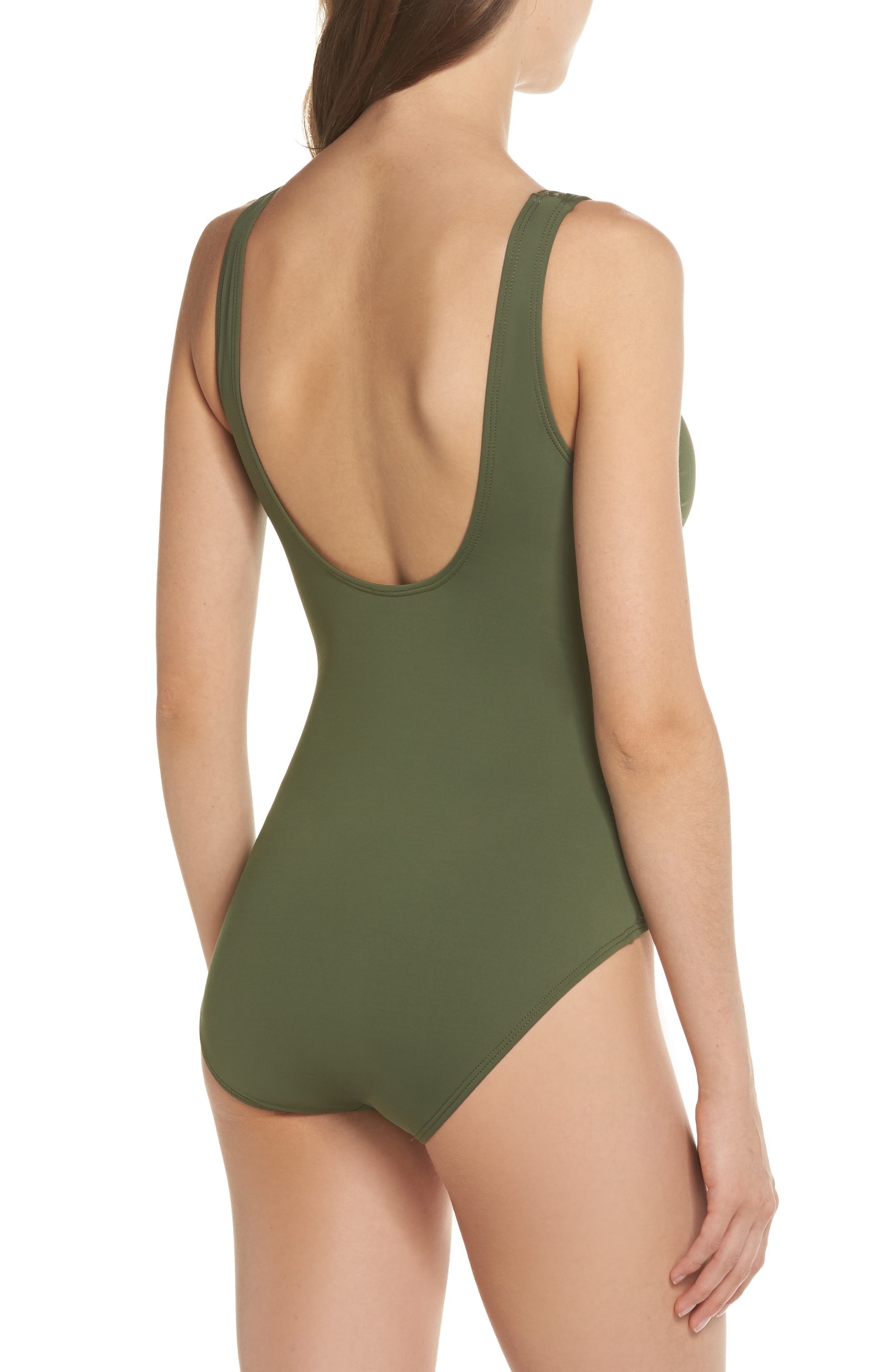 TOMMY BAHAMA,                             Pearl One-Piece Swimsuit,                             Alternate thumbnail 2, color,                             DARK TEA LEAF