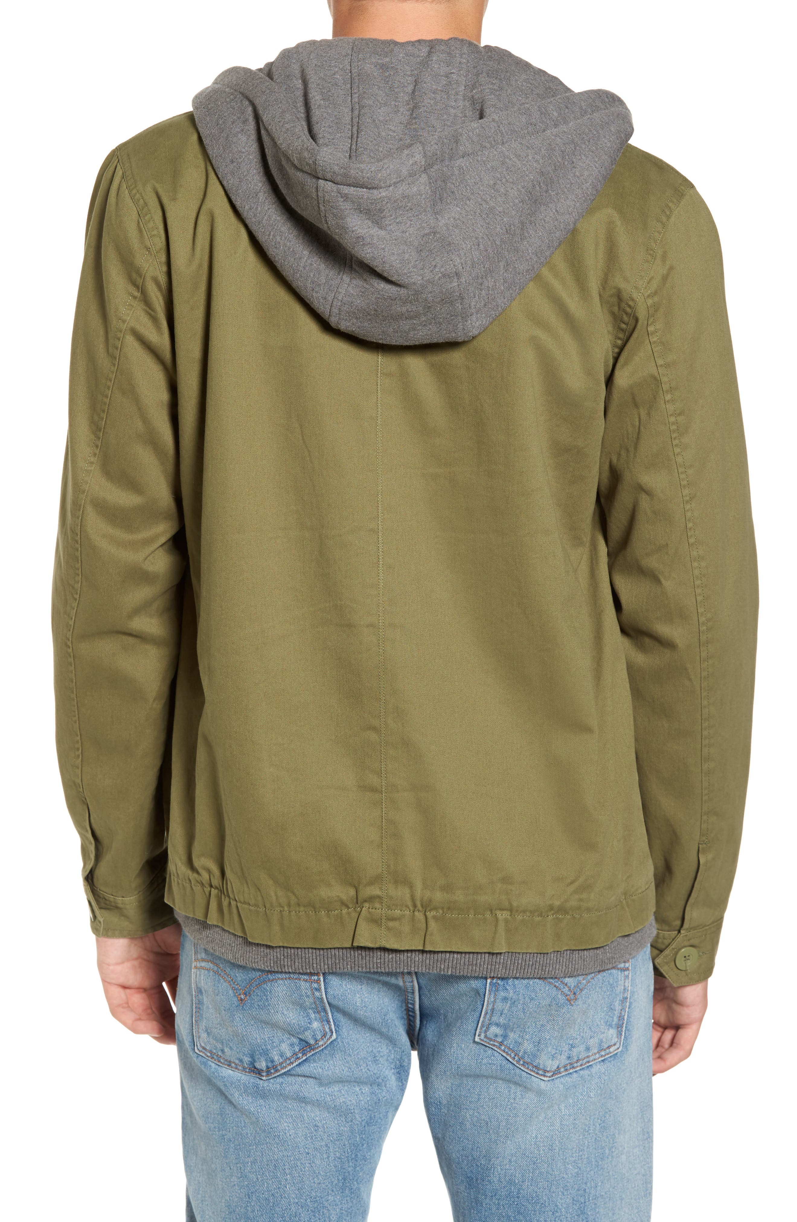 Droogs Field Jacket with Detachable Hood,                             Alternate thumbnail 2, color,                             001