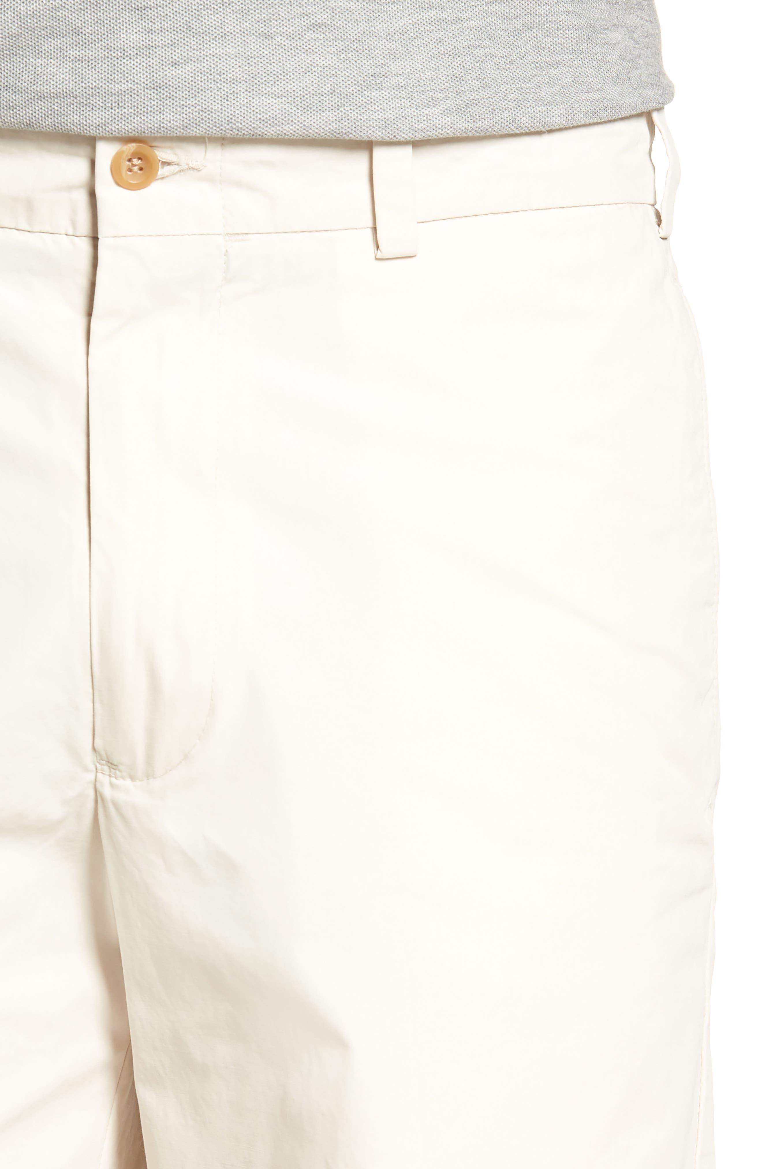 M2 Standard Fit Flat Front Tropical Cotton Poplin Shorts,                             Alternate thumbnail 4, color,                             280