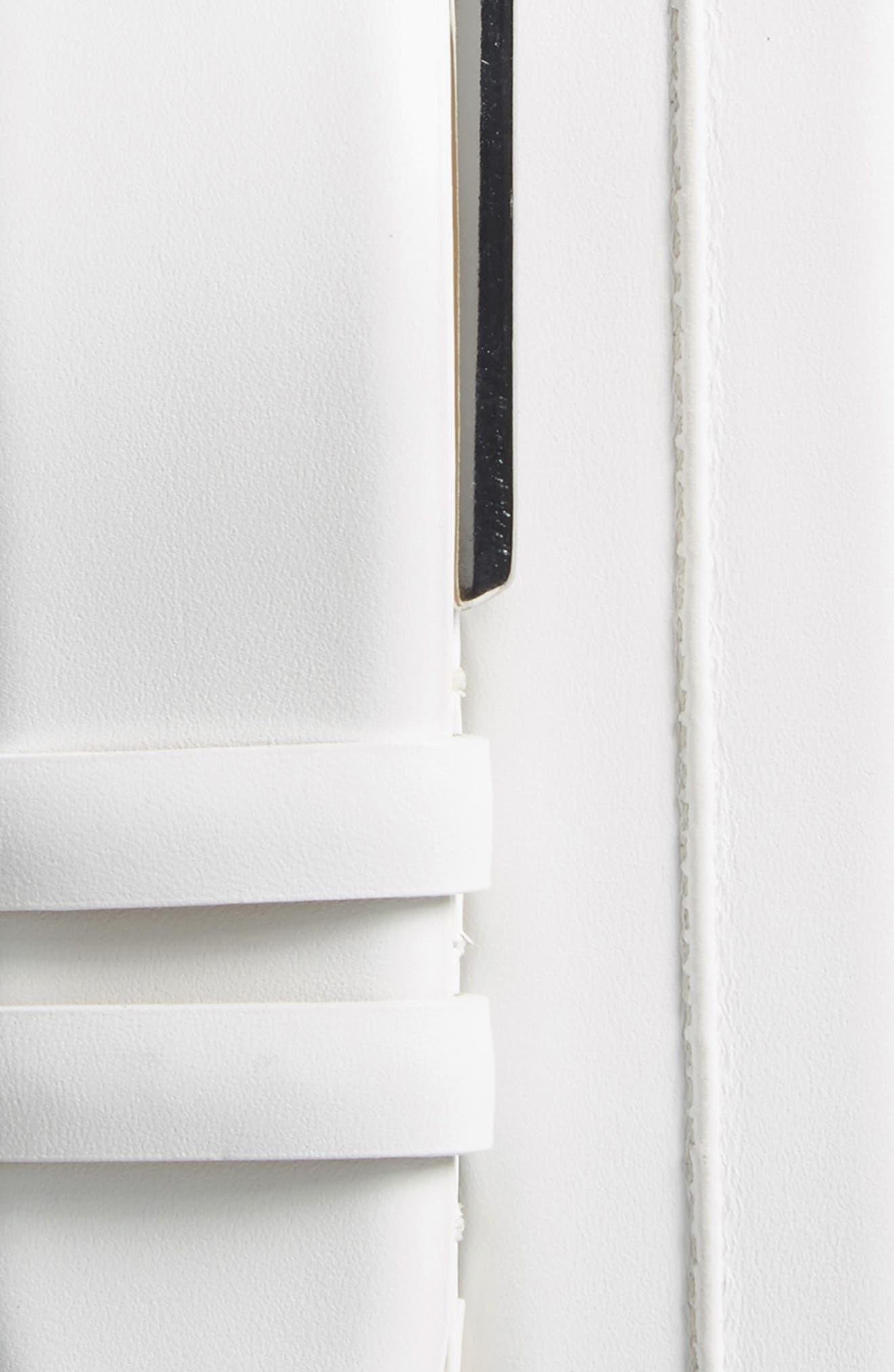 Palma Leather Belt,                             Alternate thumbnail 2, color,                             WHITE