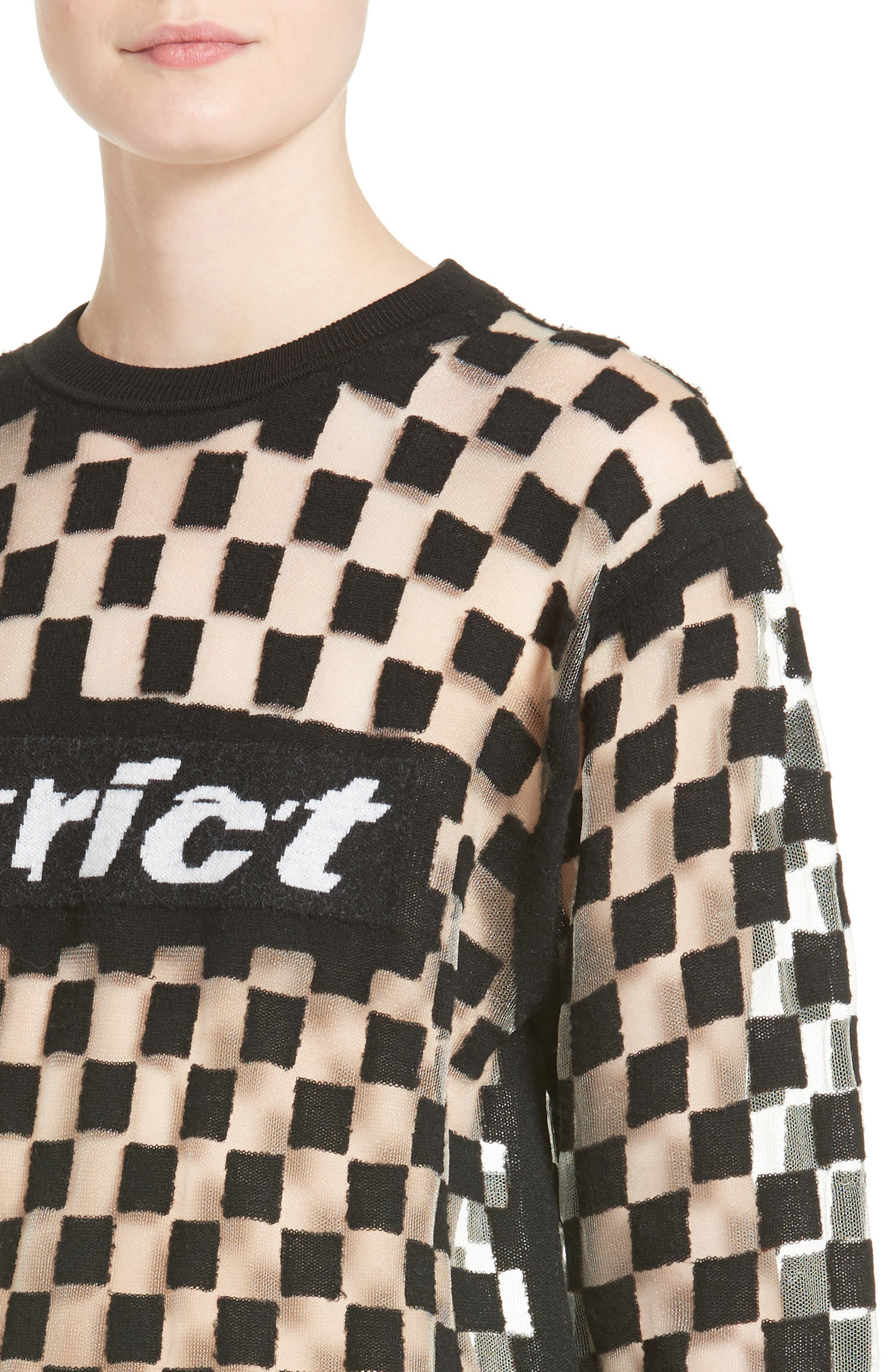 Checkerboard Pullover,                             Alternate thumbnail 4, color,                             001