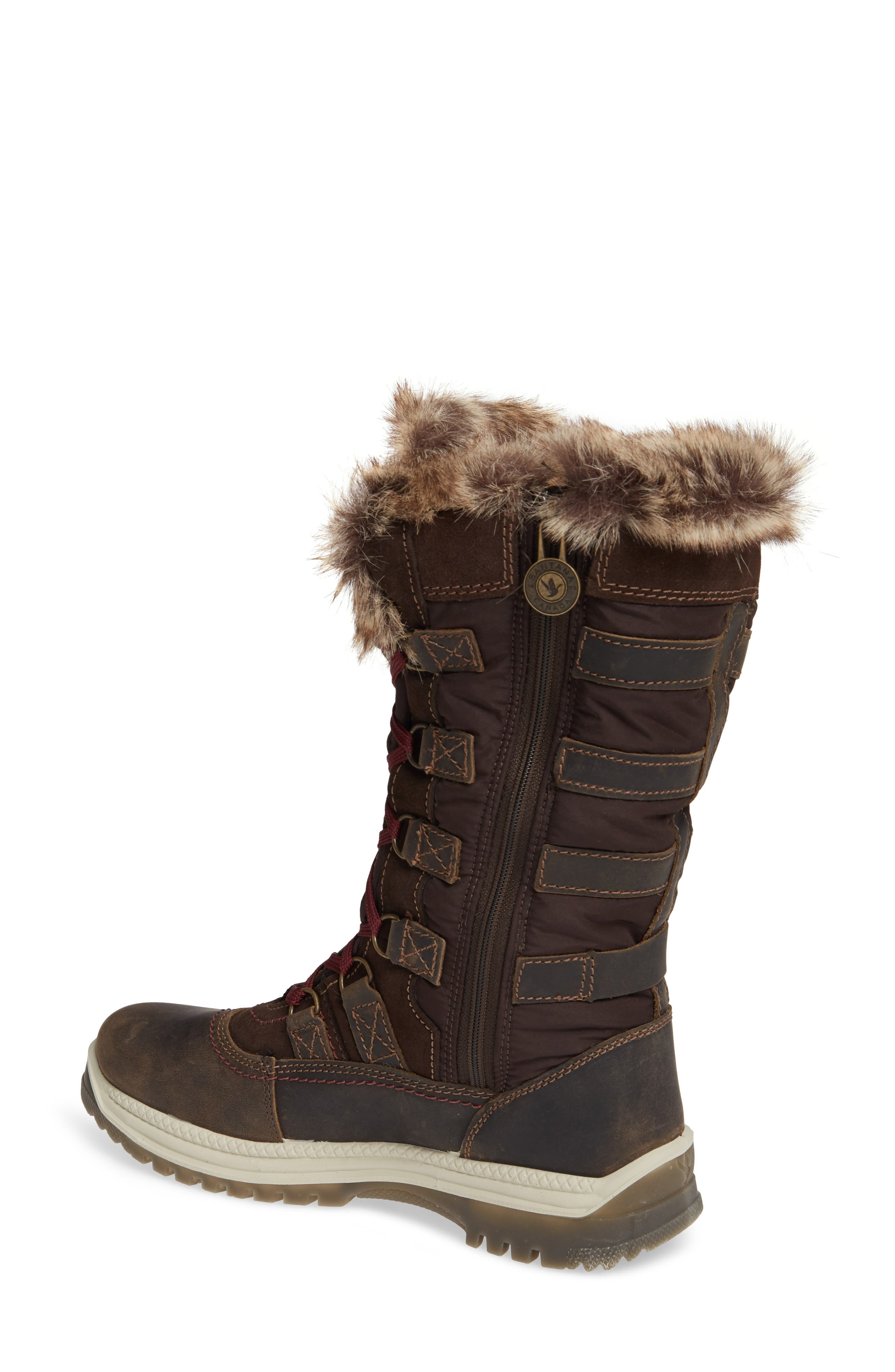 Milani Waterproof Faux Fur Boot,                             Alternate thumbnail 2, color,                             BROWN / BROWN LEATHER