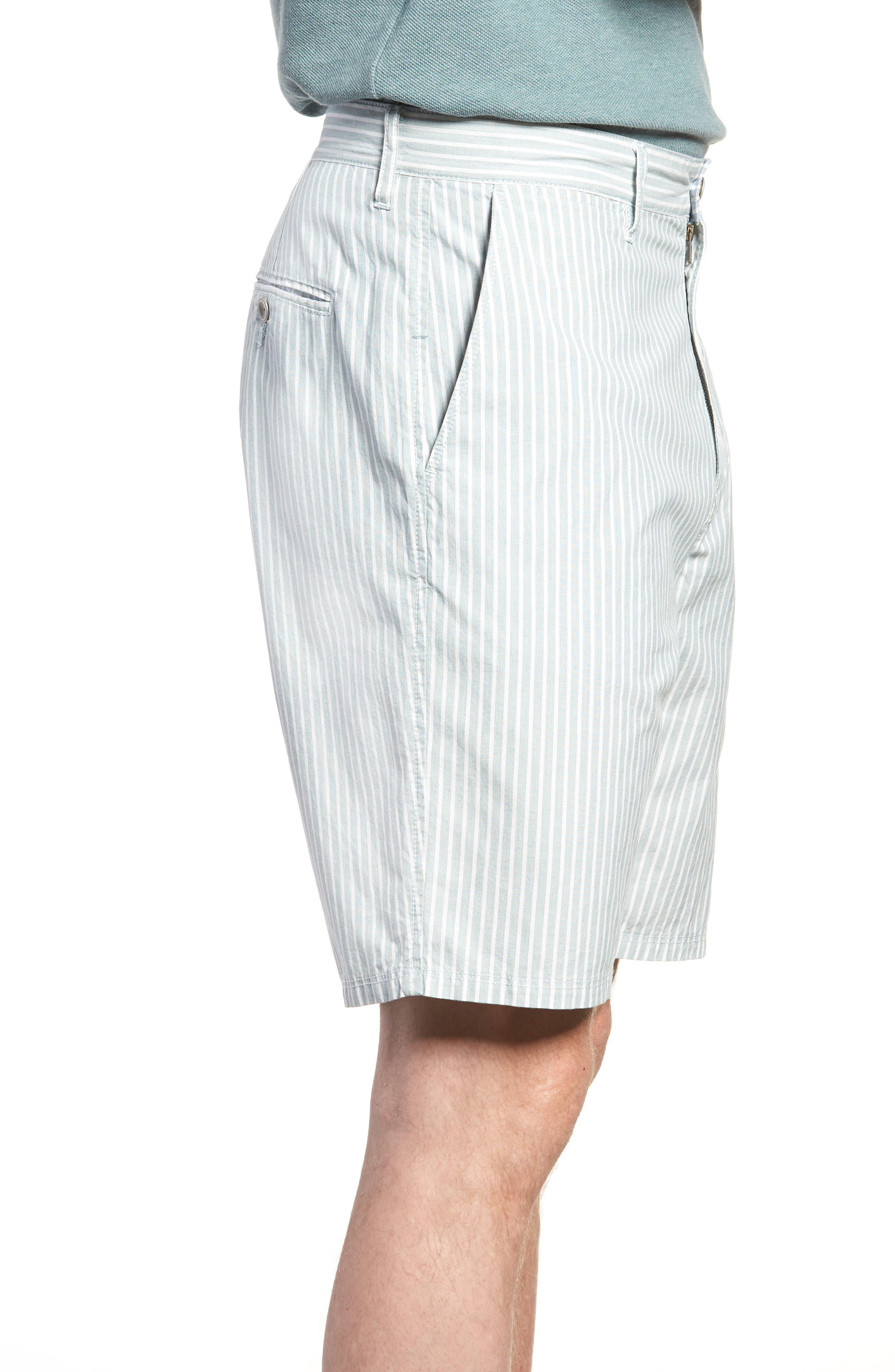 Preston Regular Fit Flat Front Shorts,                             Alternate thumbnail 3, color,                             PINE