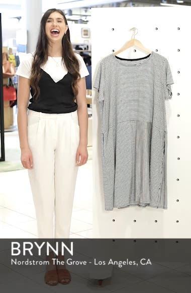 Stripe Organic Linen Jersey Shift Dress, sales video thumbnail