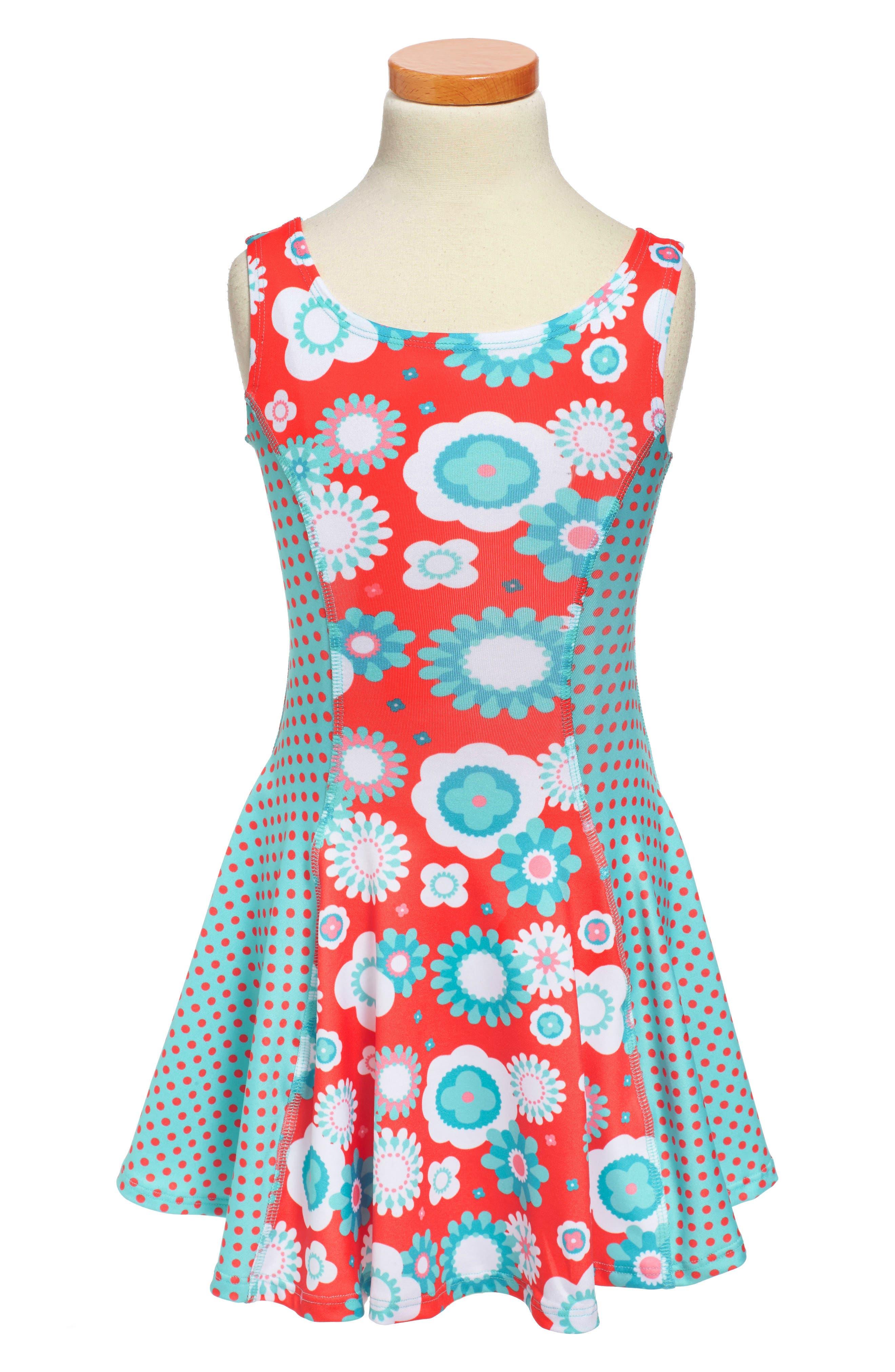Flow Mixed Print Dress,                             Alternate thumbnail 41, color,