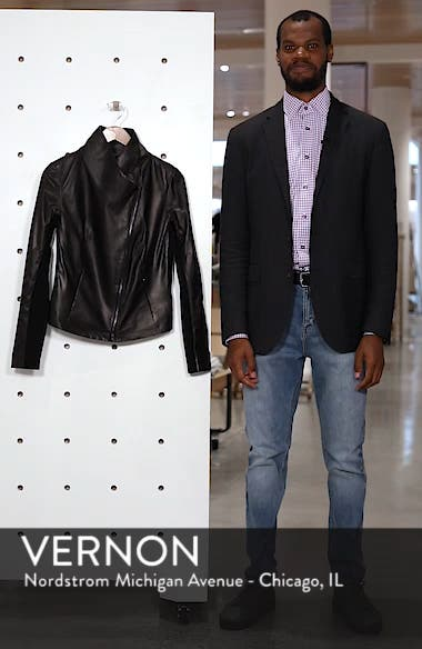 Stand Collar Leather Jacket, sales video thumbnail