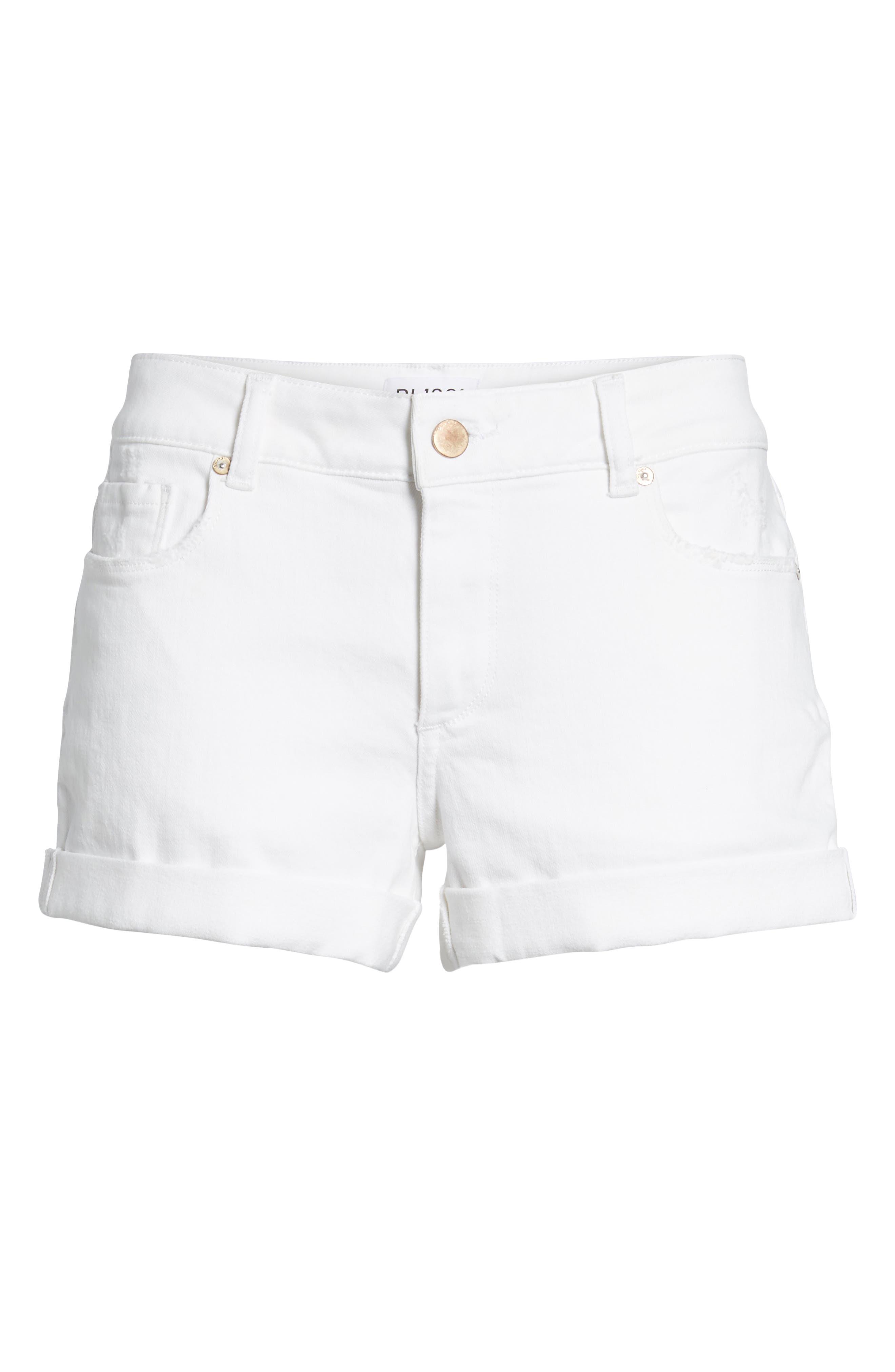 Renee Cutoff Denim Shorts,                             Alternate thumbnail 7, color,                             020