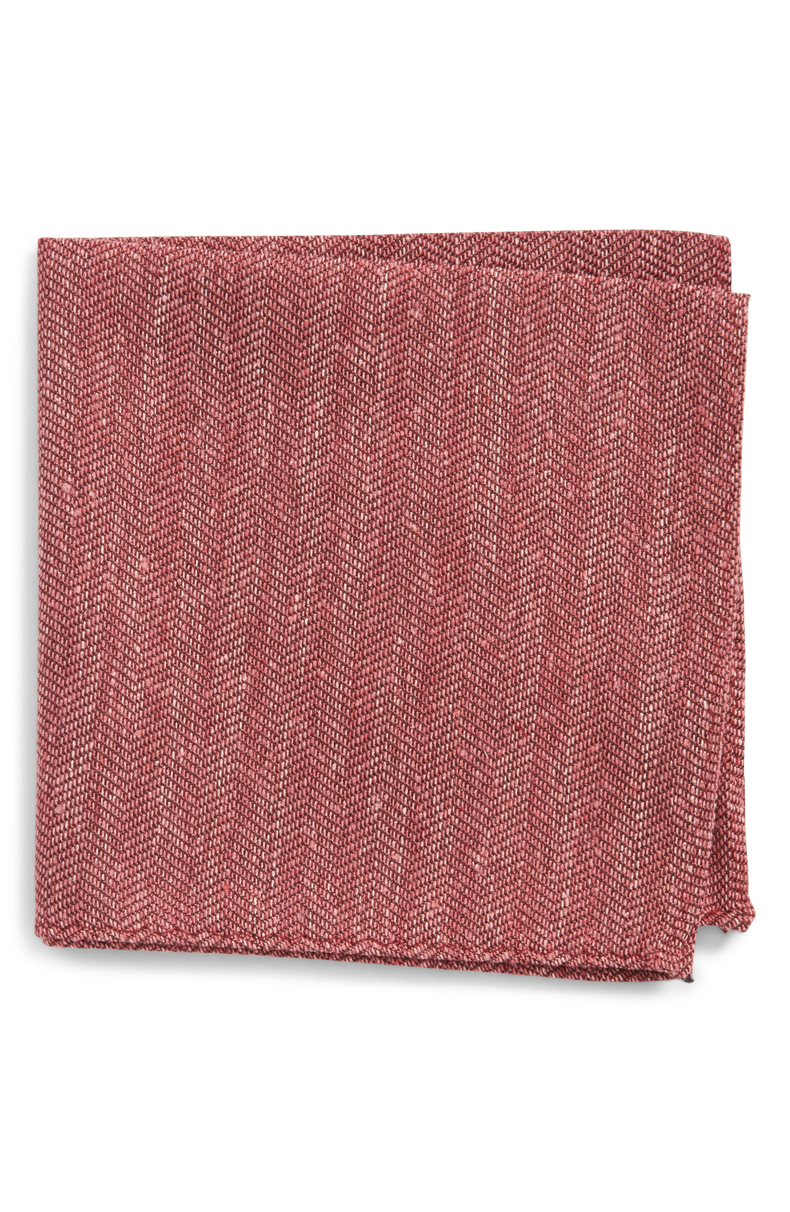 Threaded Zigzag Silk Pocket Square,                             Main thumbnail 3, color,