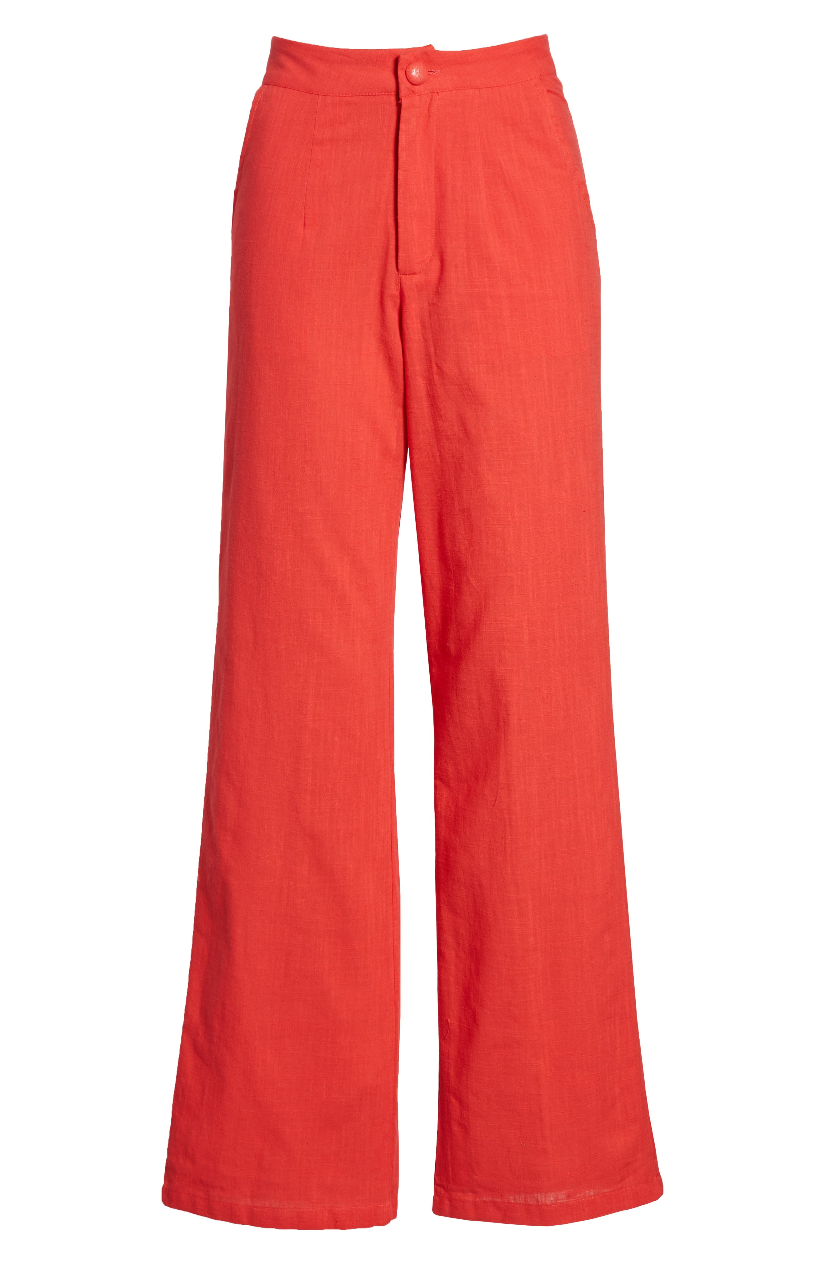 Femme Fatale High Waist Pants,                             Alternate thumbnail 7, color,