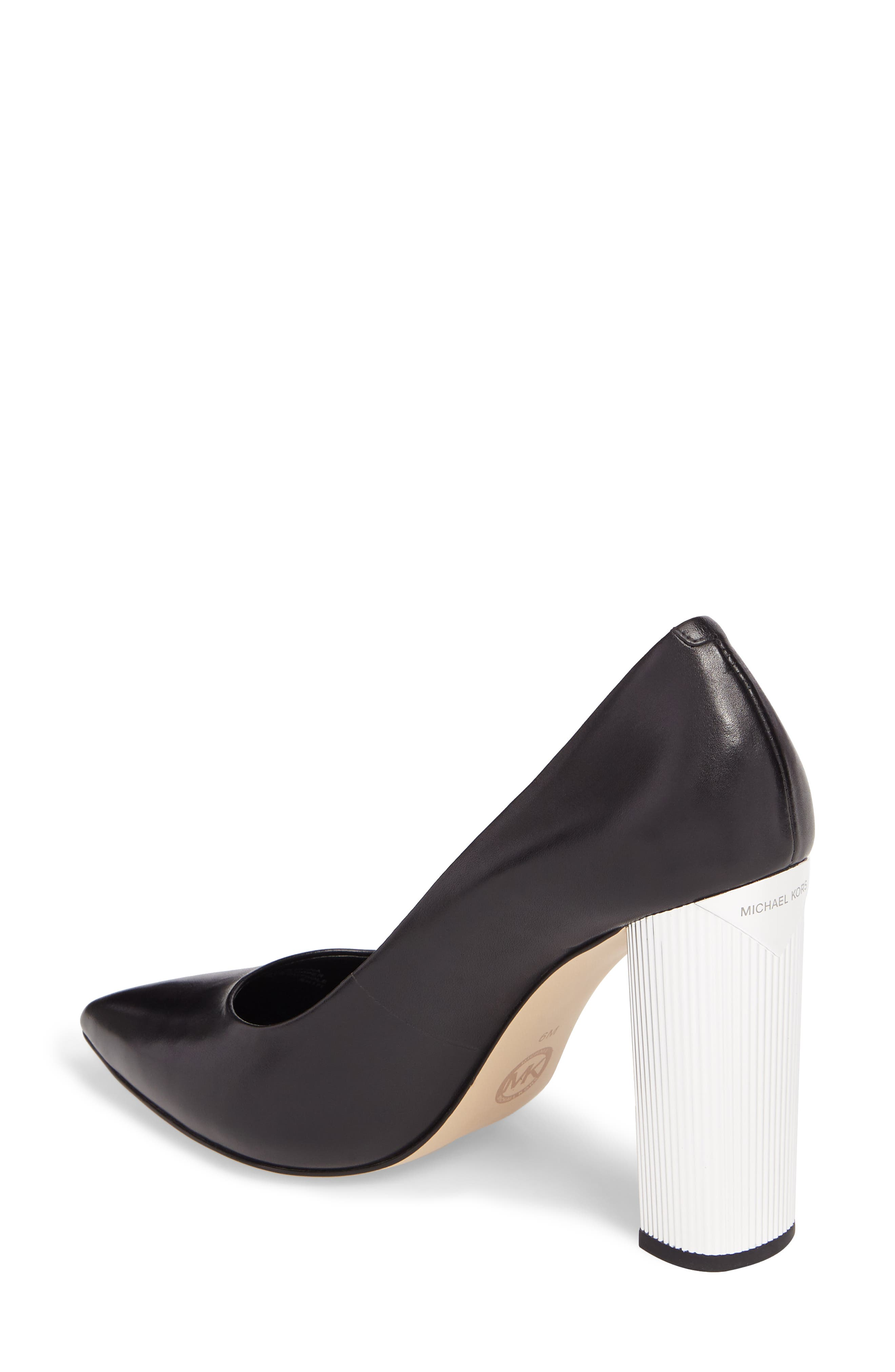Paloma Metallic Heel Pump,                             Alternate thumbnail 2, color,                             001
