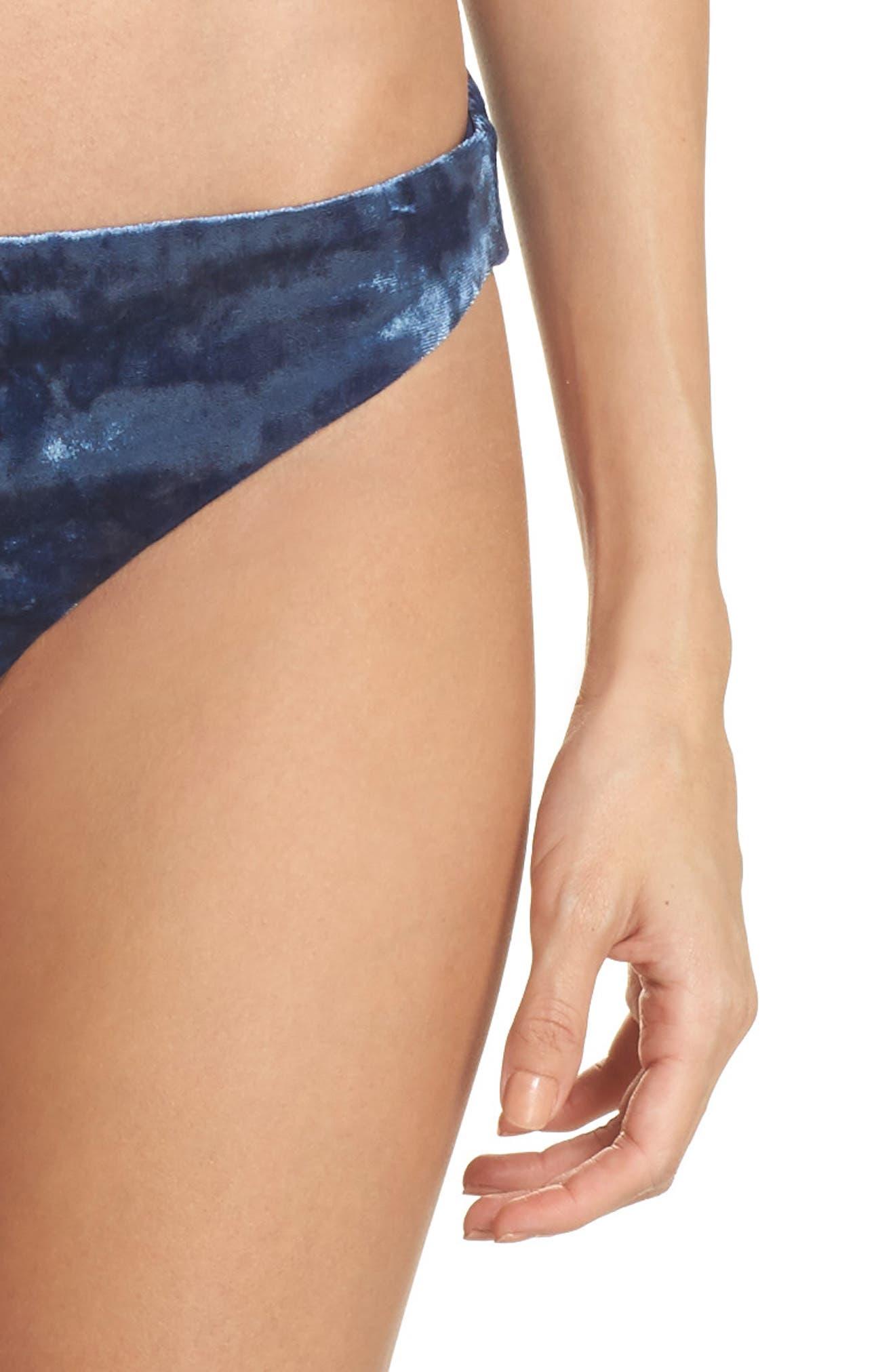 Velvet Bandeau Bikini Top,                             Alternate thumbnail 4, color,                             412