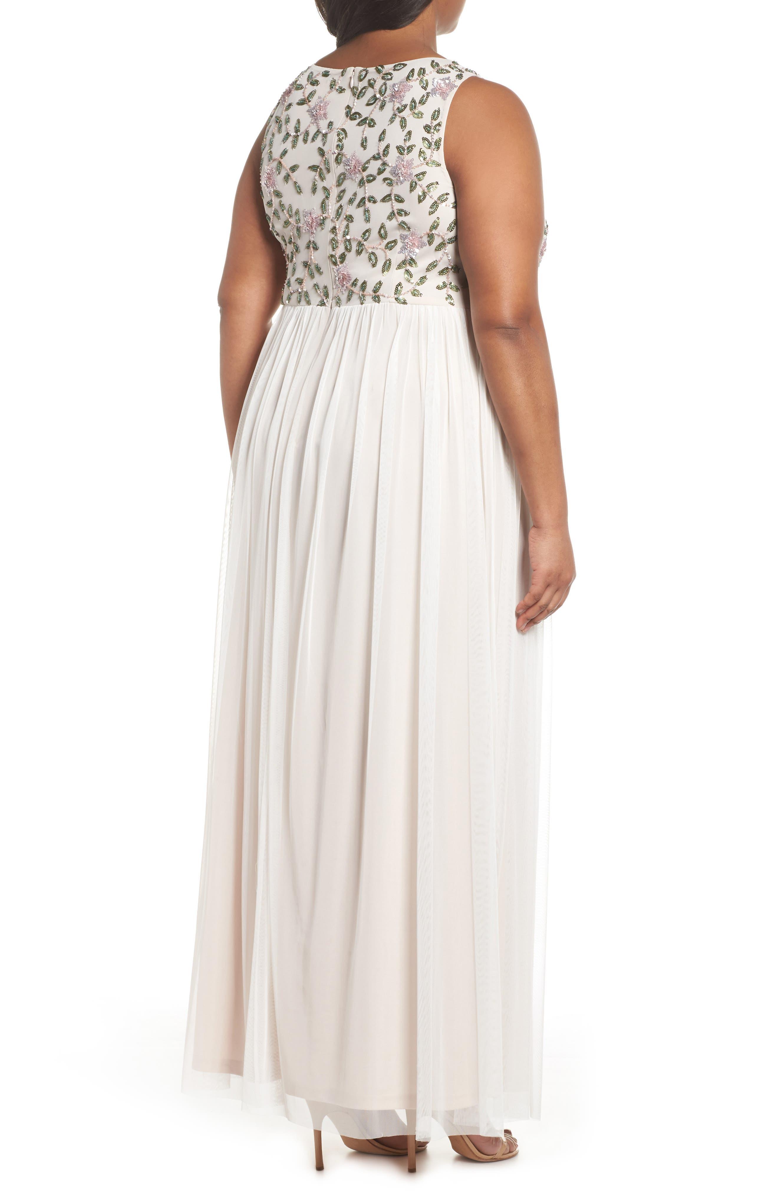 Floral Sequin Bodice Gown,                             Alternate thumbnail 2, color,                             900