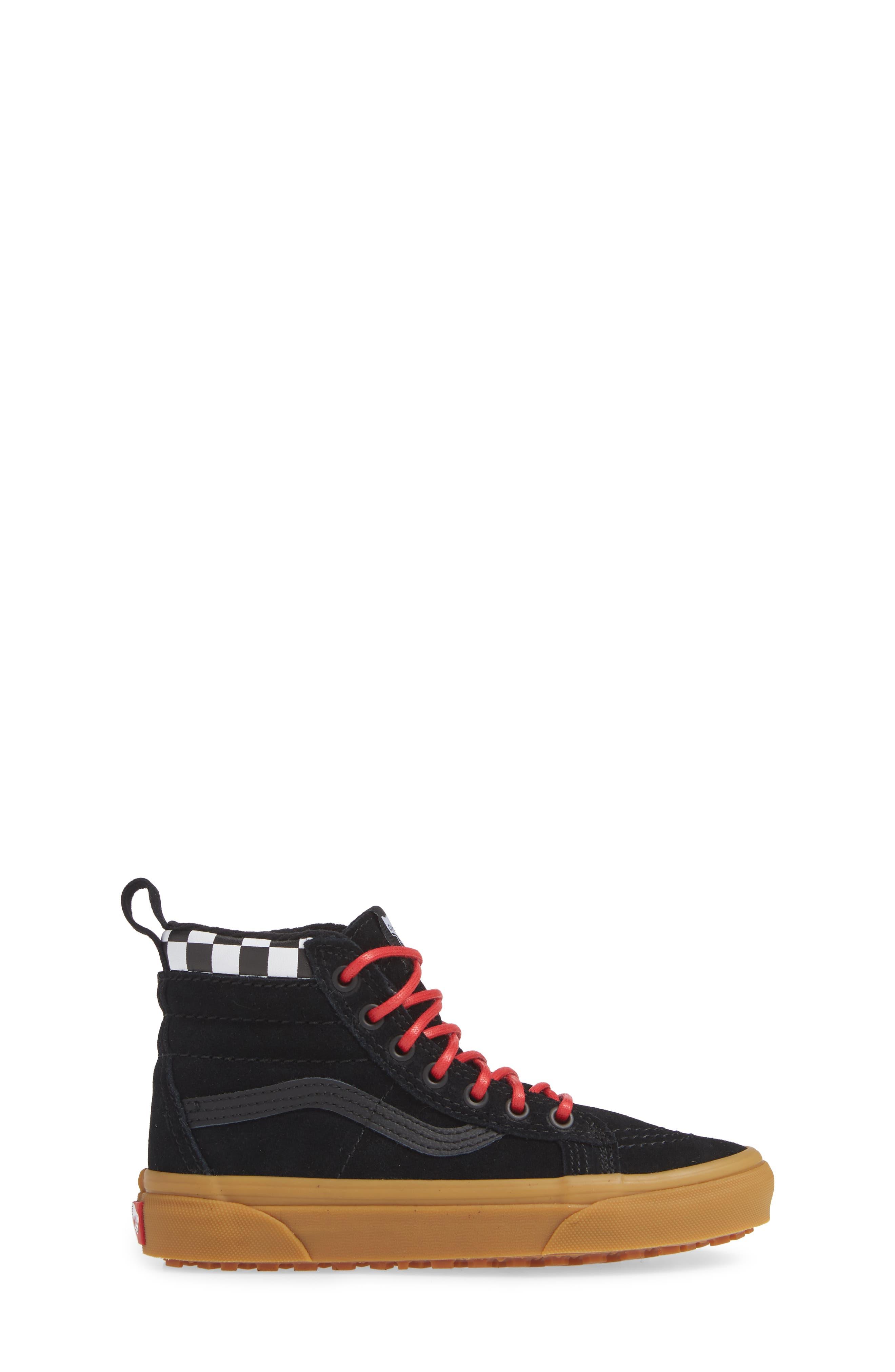SK8-Hi Sneaker,                             Alternate thumbnail 3, color,                             CHECKERBOARD/ BLACK