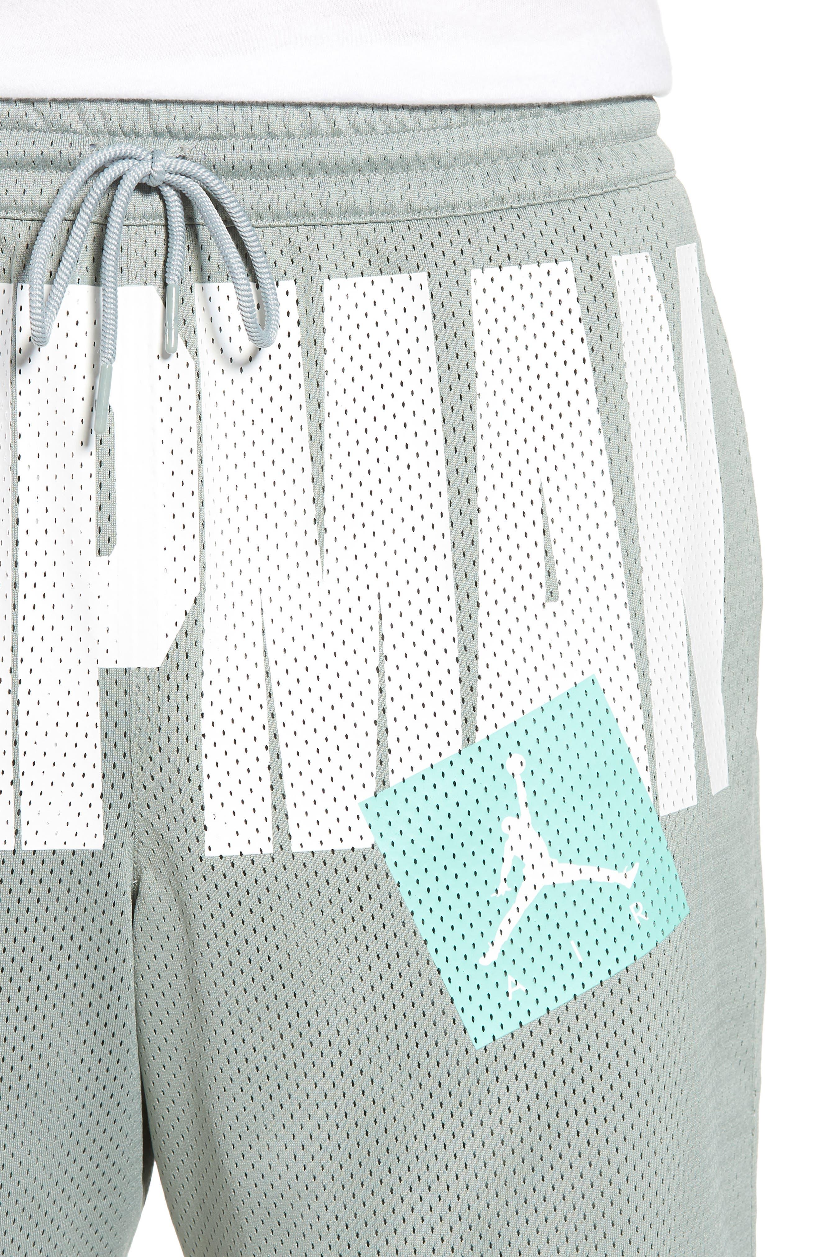 Nike Jumpman Air Mesh Shorts,                             Alternate thumbnail 4, color,                             MICA GREEN