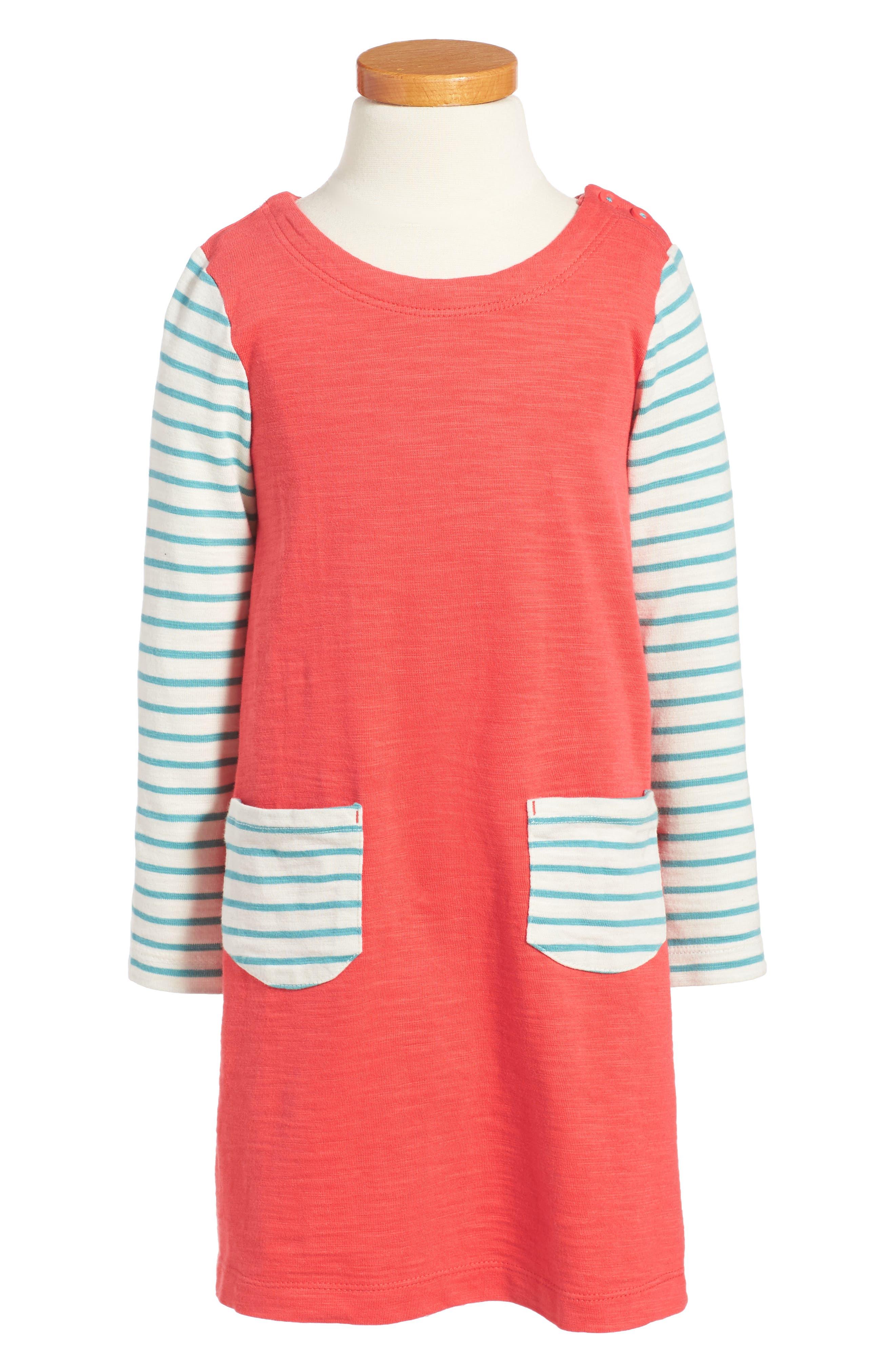 Stripey Jersey Dress,                             Main thumbnail 1, color,                             614