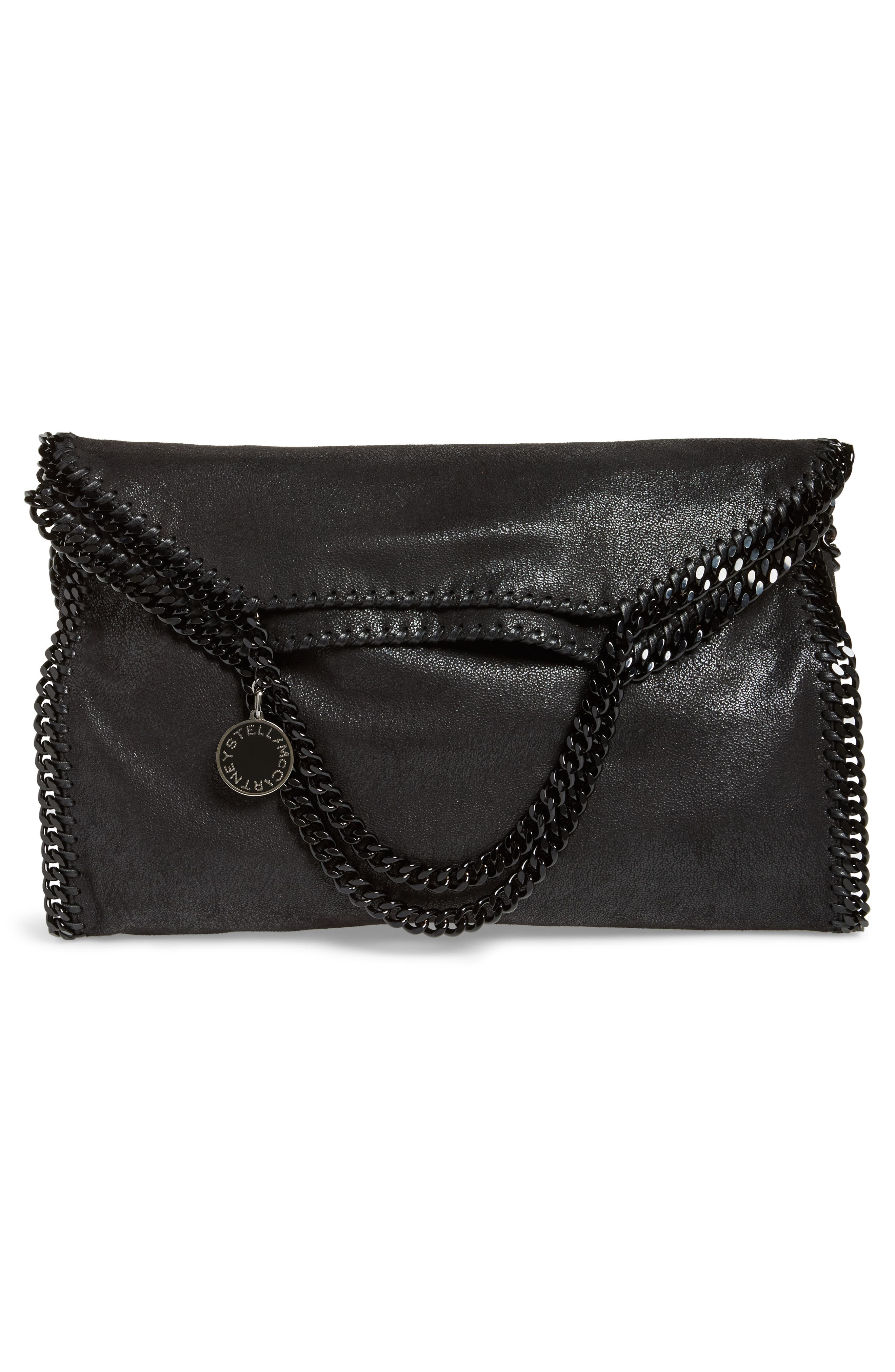 Falabella Shaggy Deer Faux Leather Tote,                             Alternate thumbnail 3, color,                             BLACK OUT