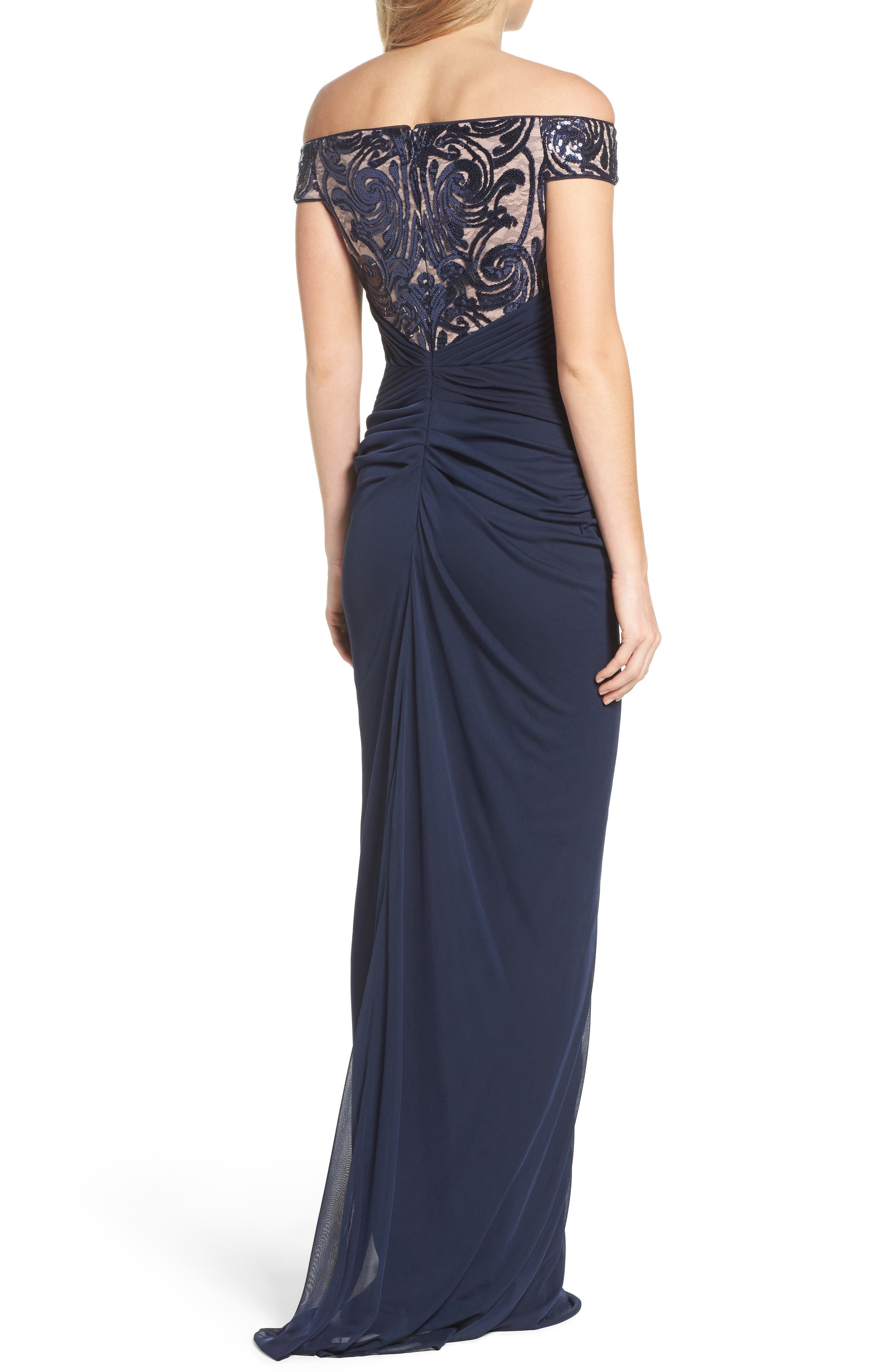 Sequin Lace & Tulle Gown,                             Alternate thumbnail 5, color,